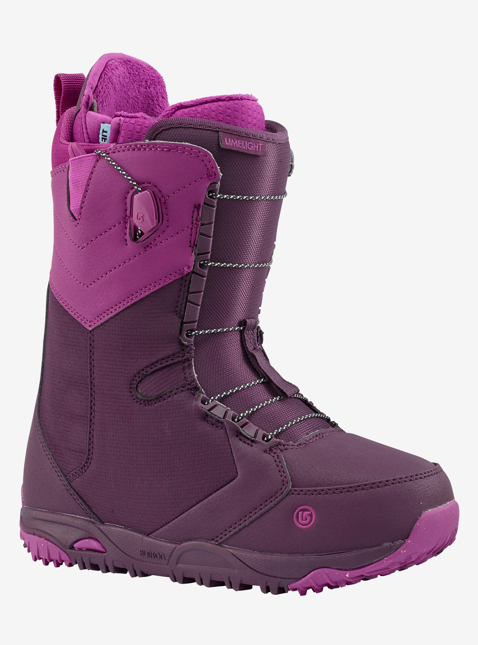 Women's Burton Limelight Snowboard Boot shown in Berry