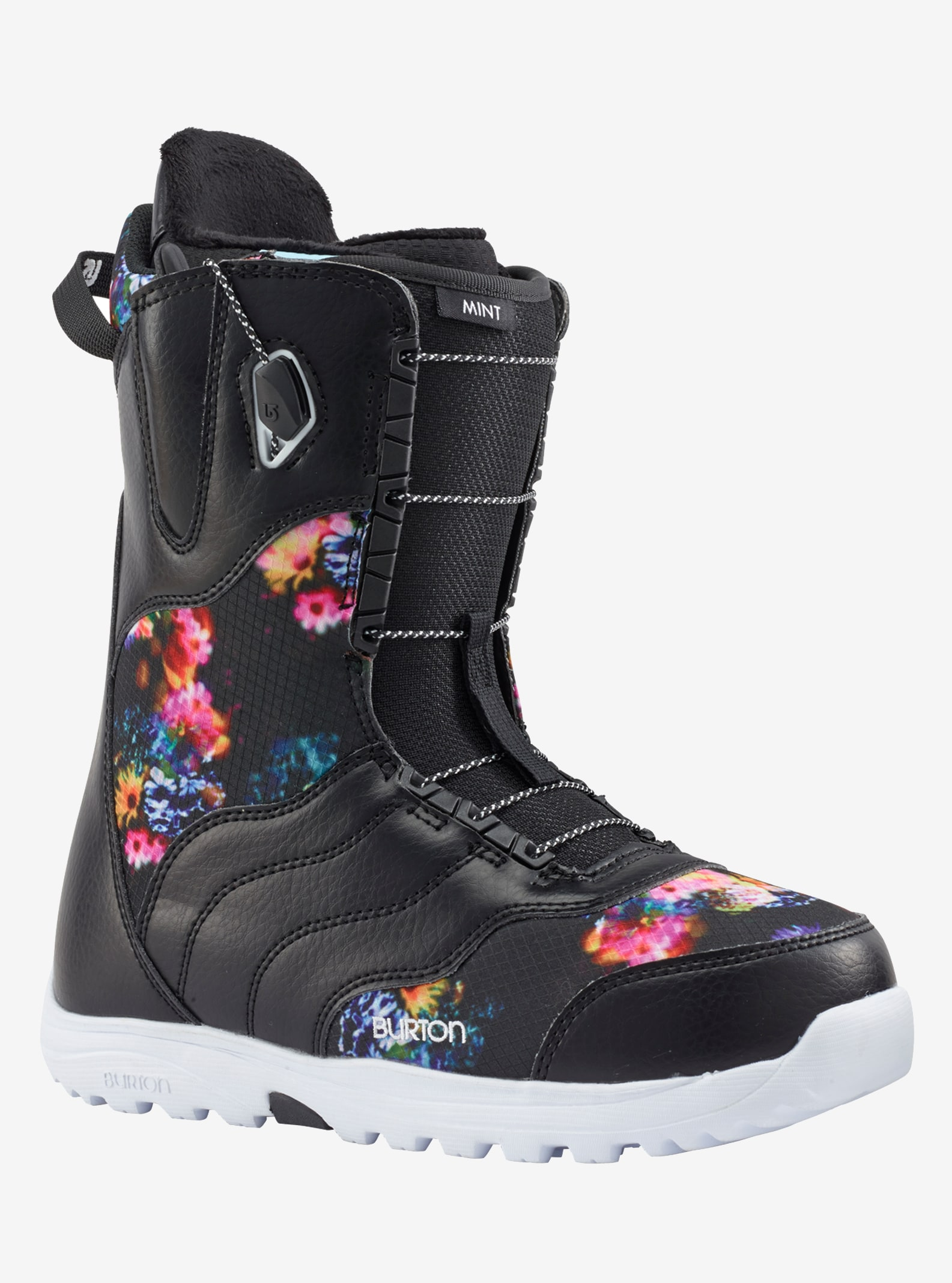 Women's Burton Mint Snowboard Boot shown in Black / Multi
