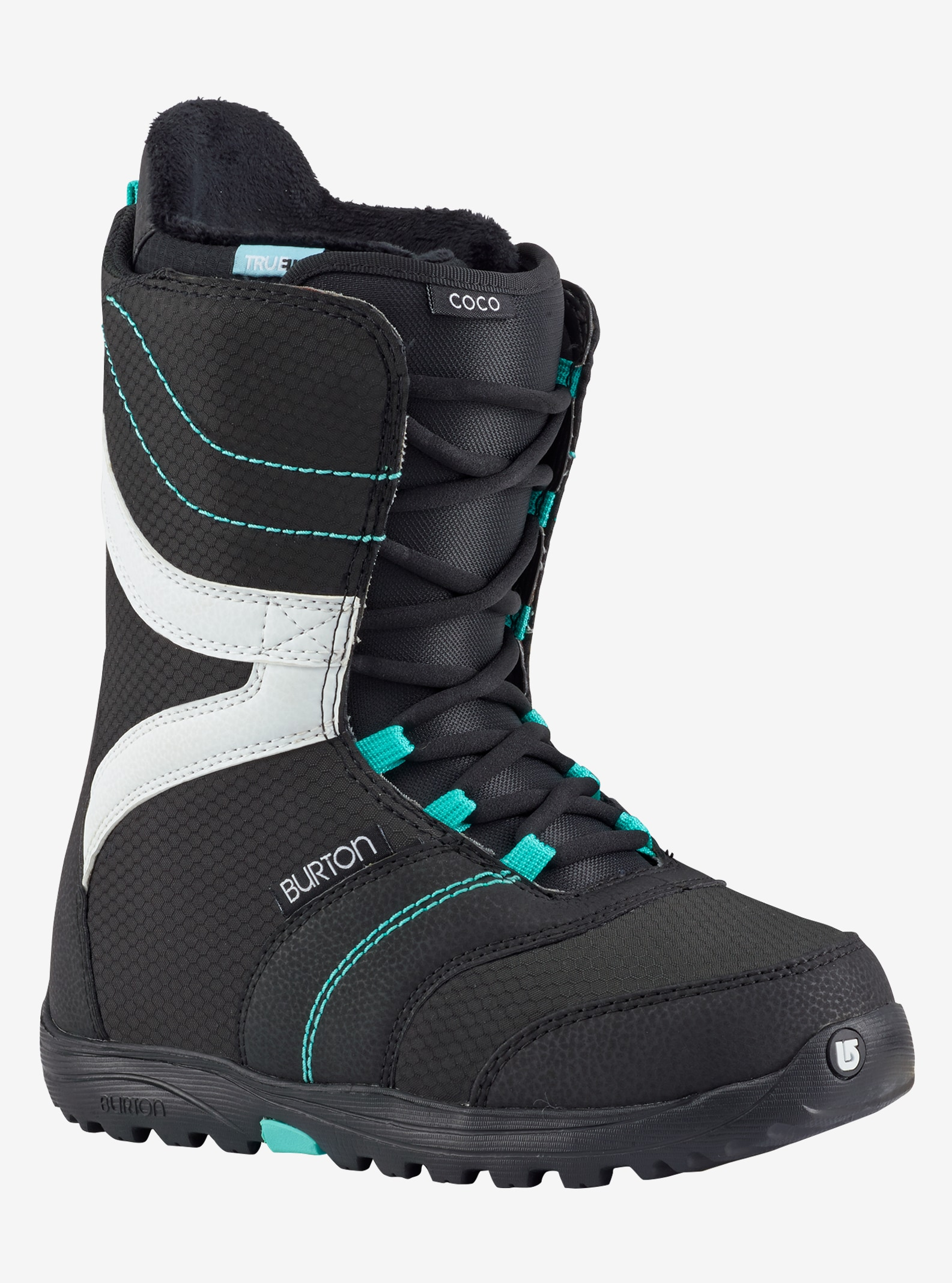 Women's Burton Coco Snowboard Boot shown in Black / Teal