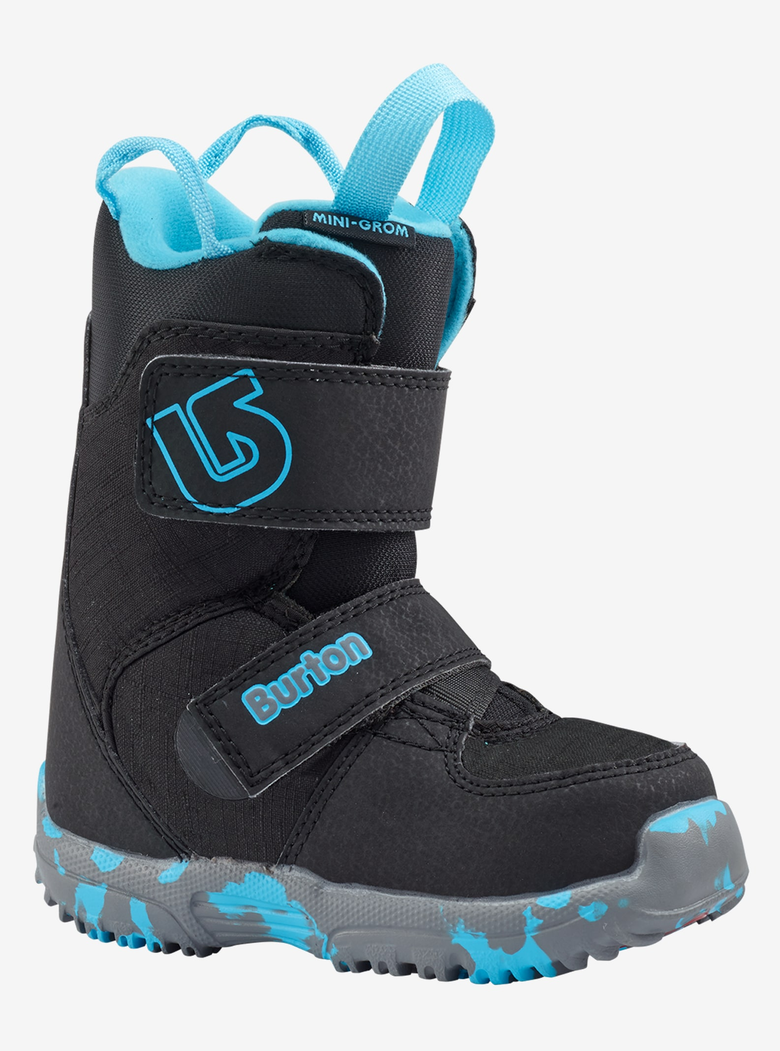 Kids' Burton Mini-Grom Snowboard Boot shown in Black