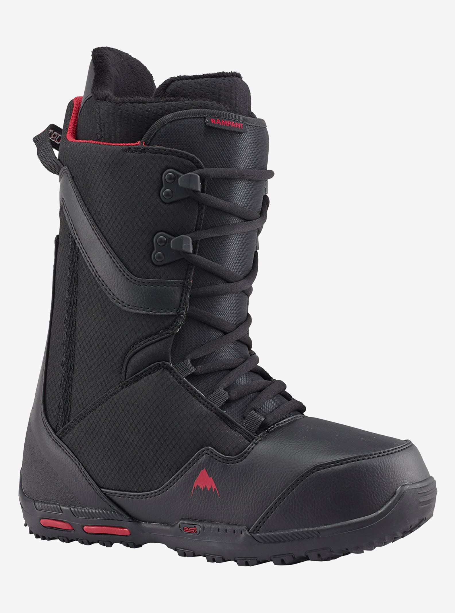 Men's Burton Rampant Snowboard Boot shown in Black / Red