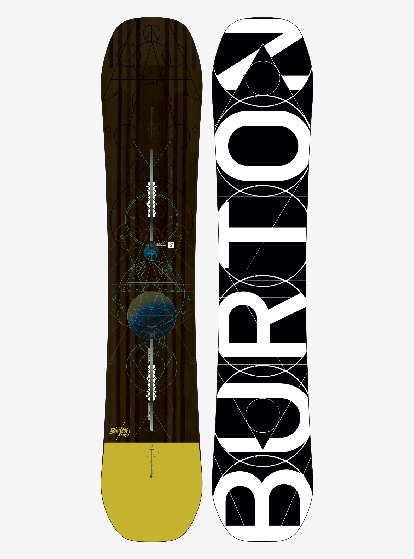Men's Burton Custom Snowboard shown in 150