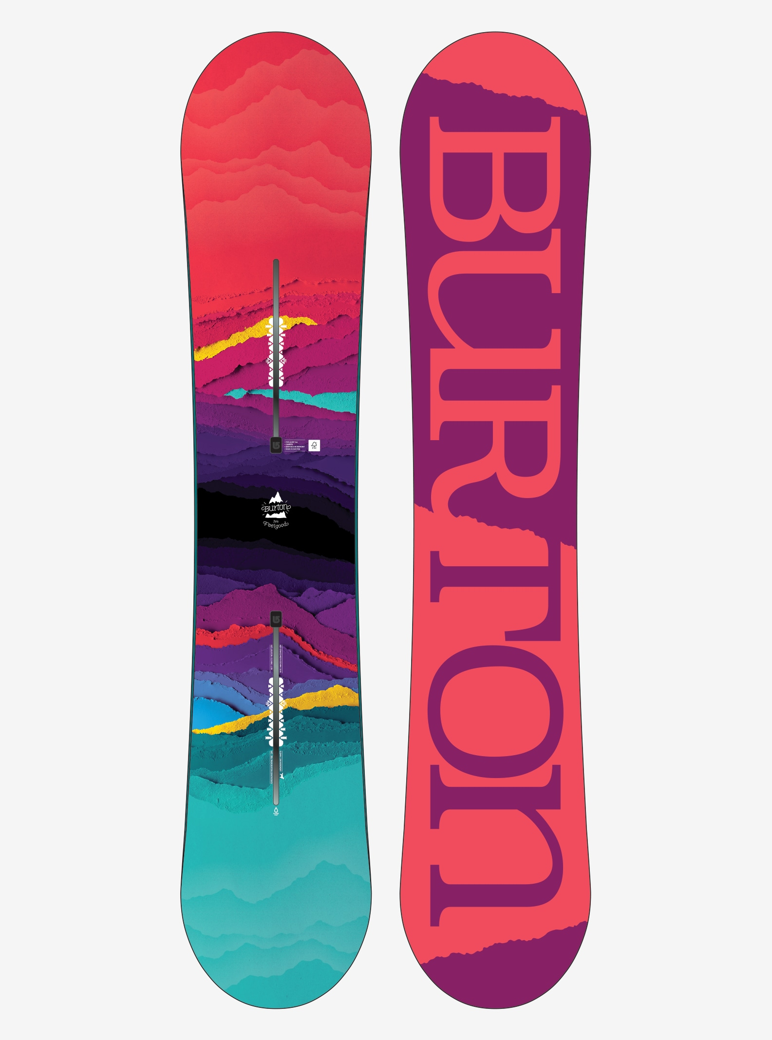 Women's Burton Feelgood Snowboard shown in 144
