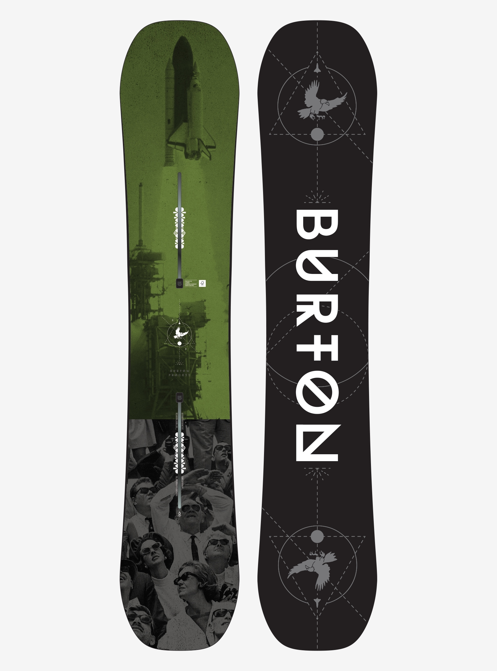 Men's Burton Process Snowboard shown in 155