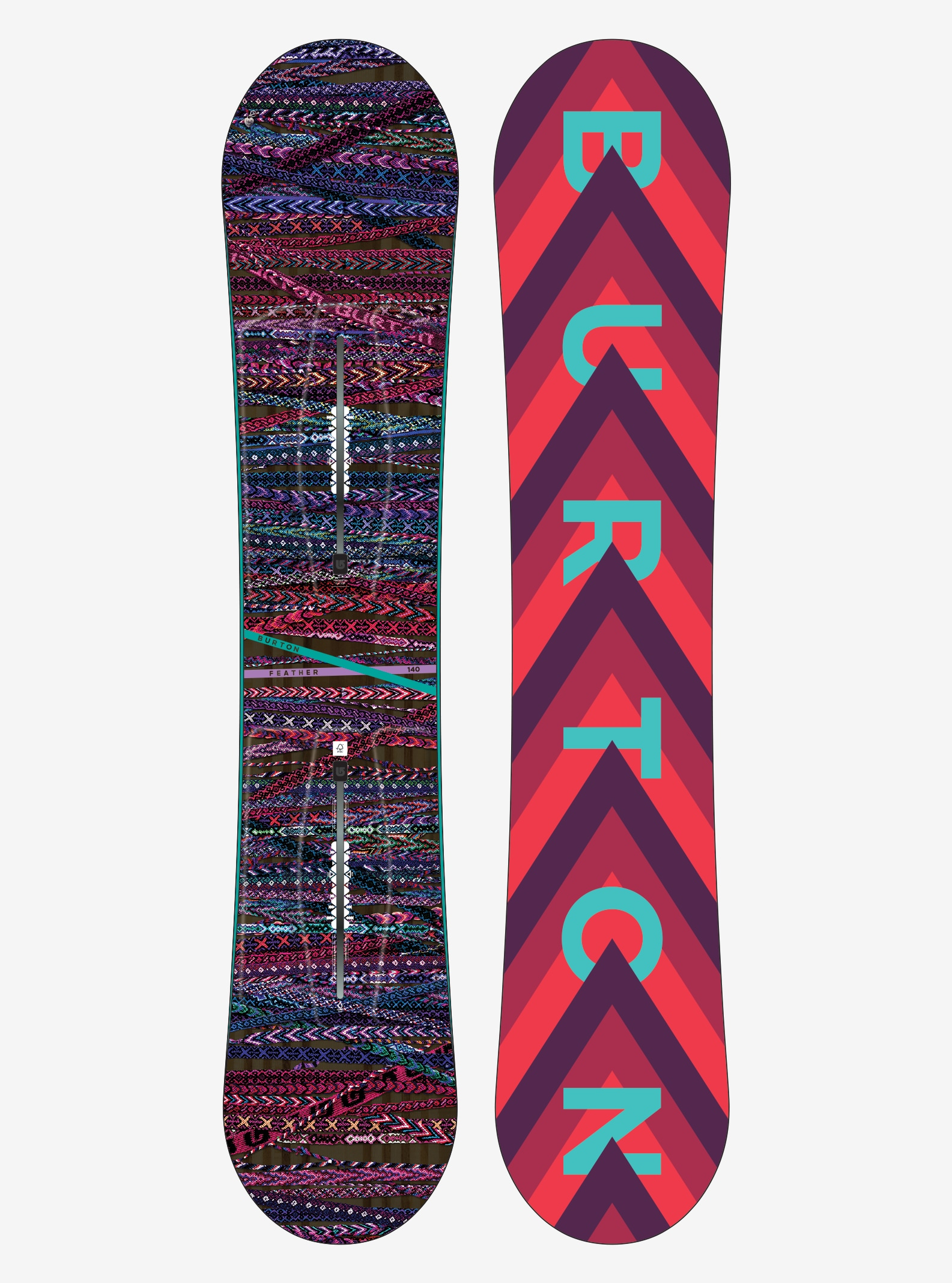 Women's Burton Feather Snowboard shown in 140