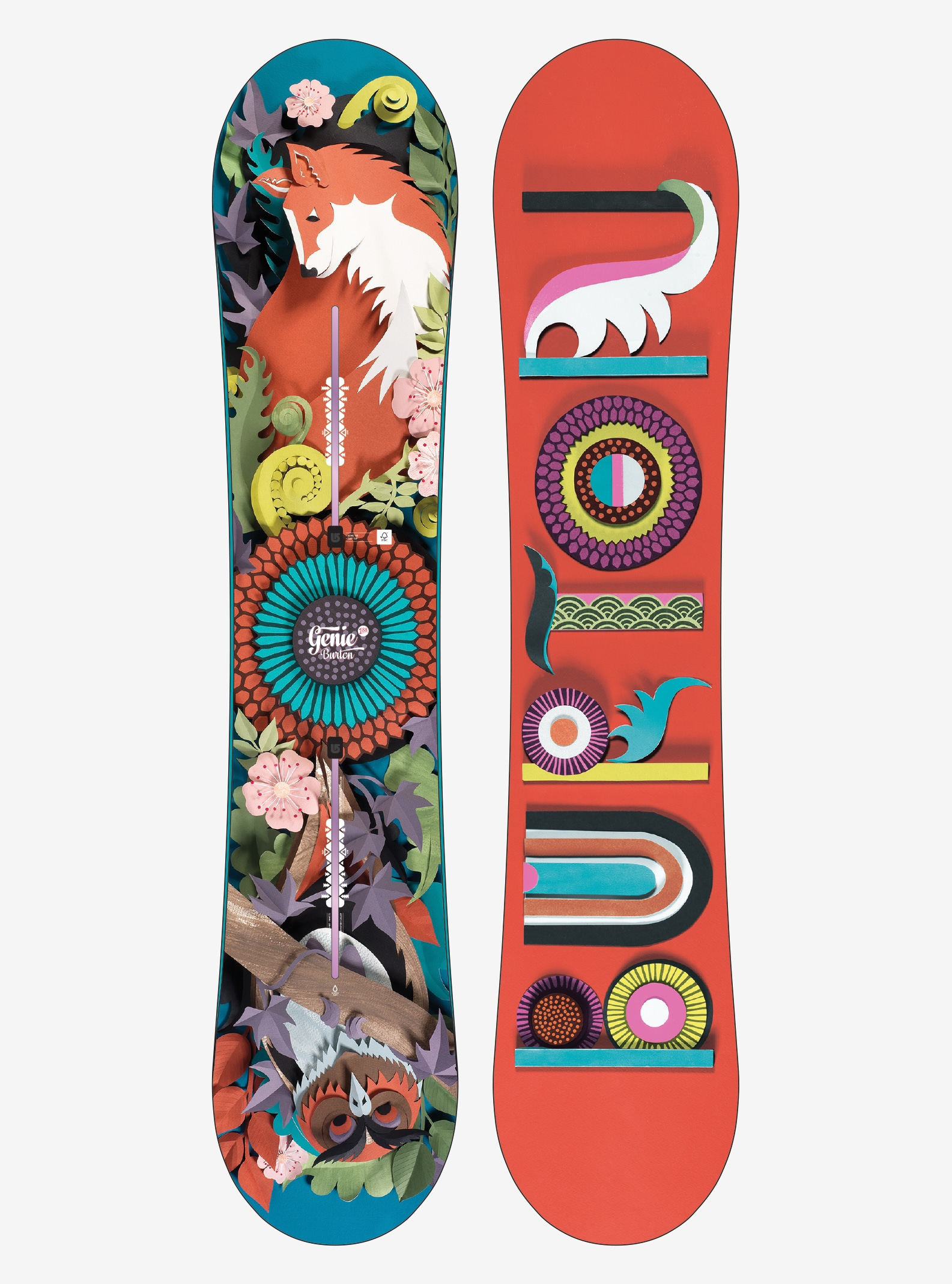 Women's Burton Genie Snowboard shown in 138