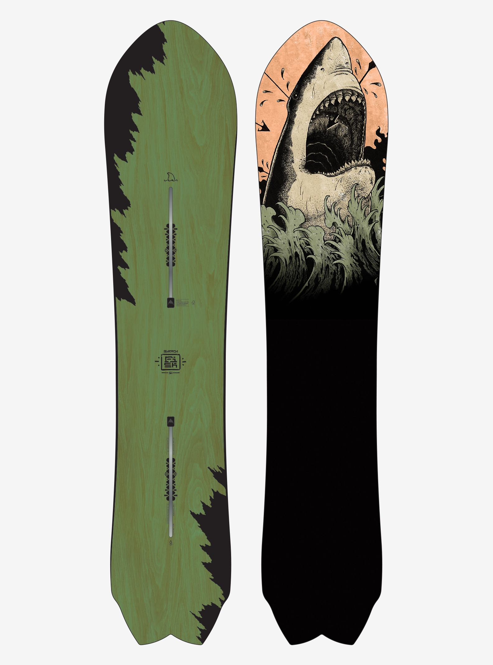 Men's Burton Fish Snowboard shown in 151