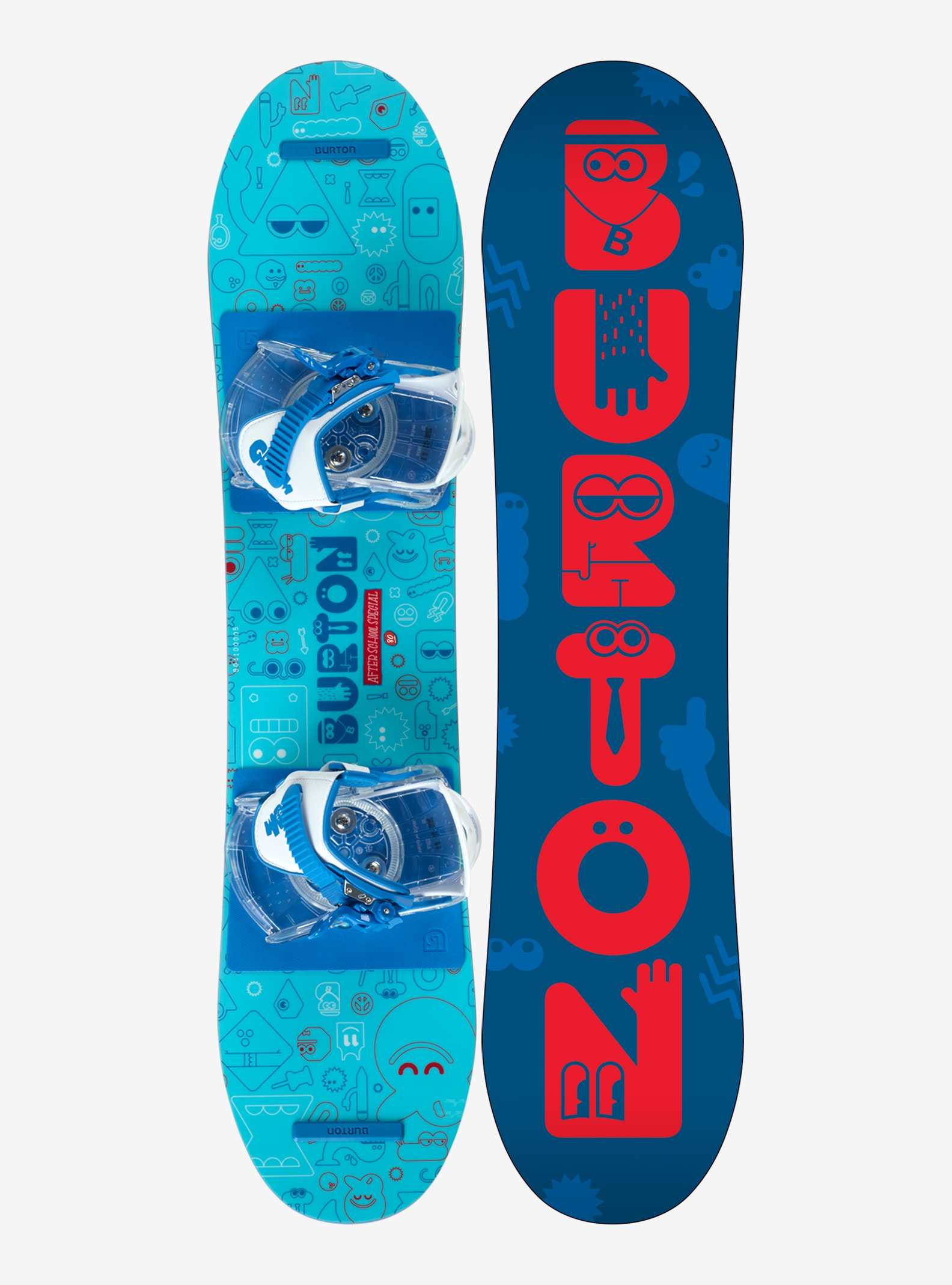 Kids' Burton After School Special Snowboard Package shown in 80