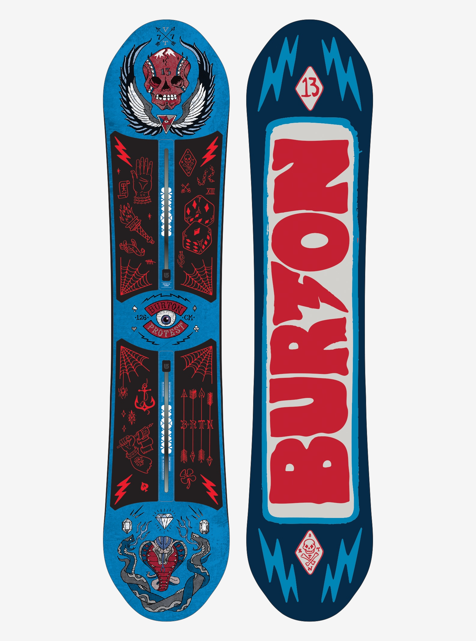 Boys' Burton ProTest Snowboard shown in 126