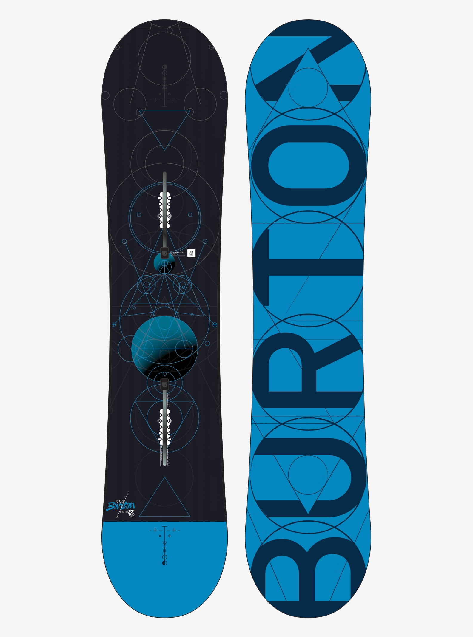 Boys' Burton Custom Smalls Snowboard shown in 125