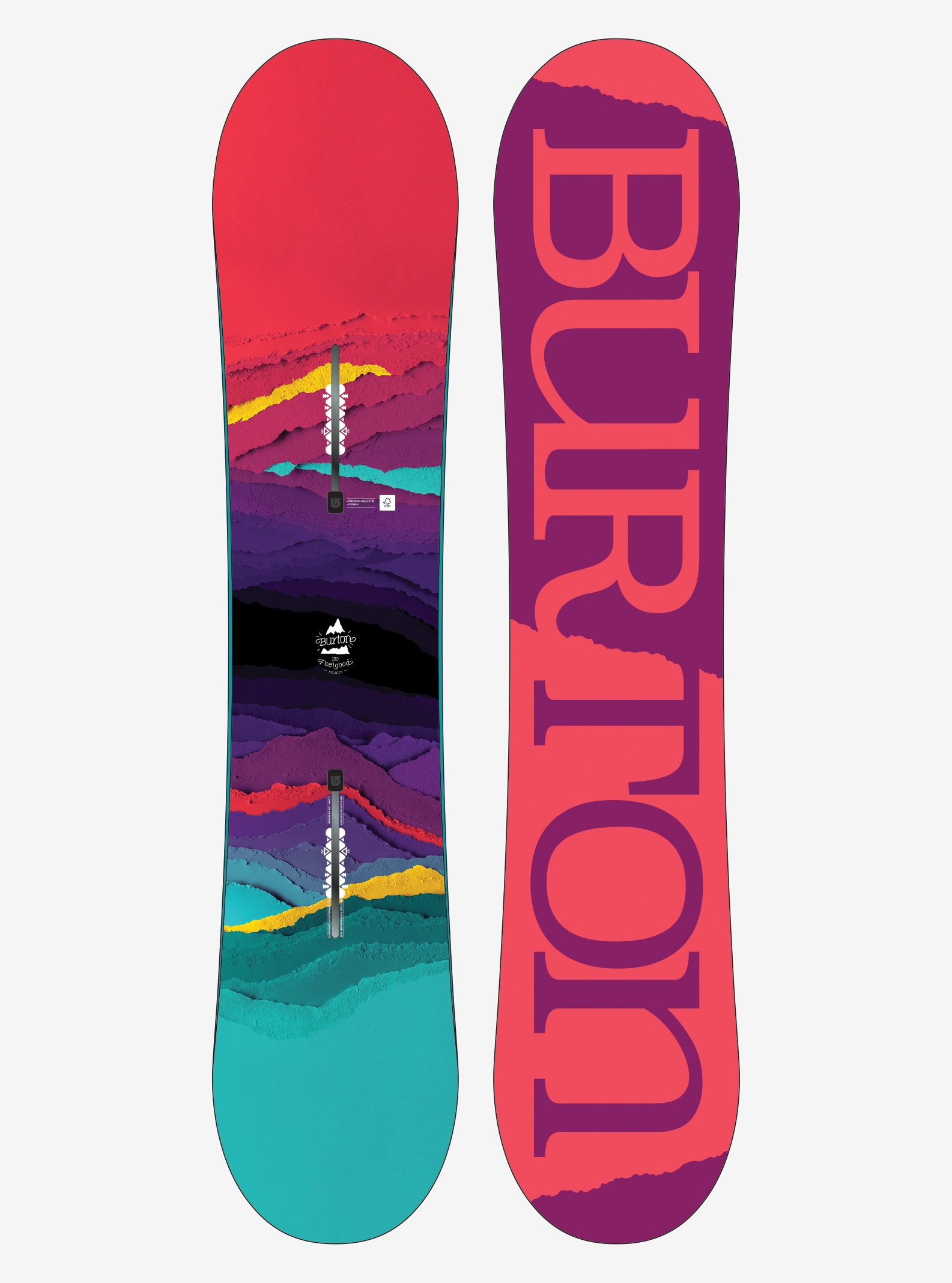Girls' Burton Feelgood Smalls Snowboard shown in 130