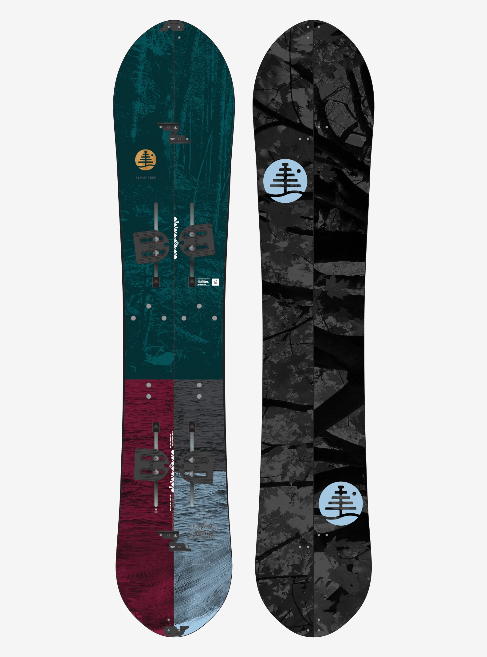 Women's Burton Family Tree Anti-Social Split Snowboard shown in 147