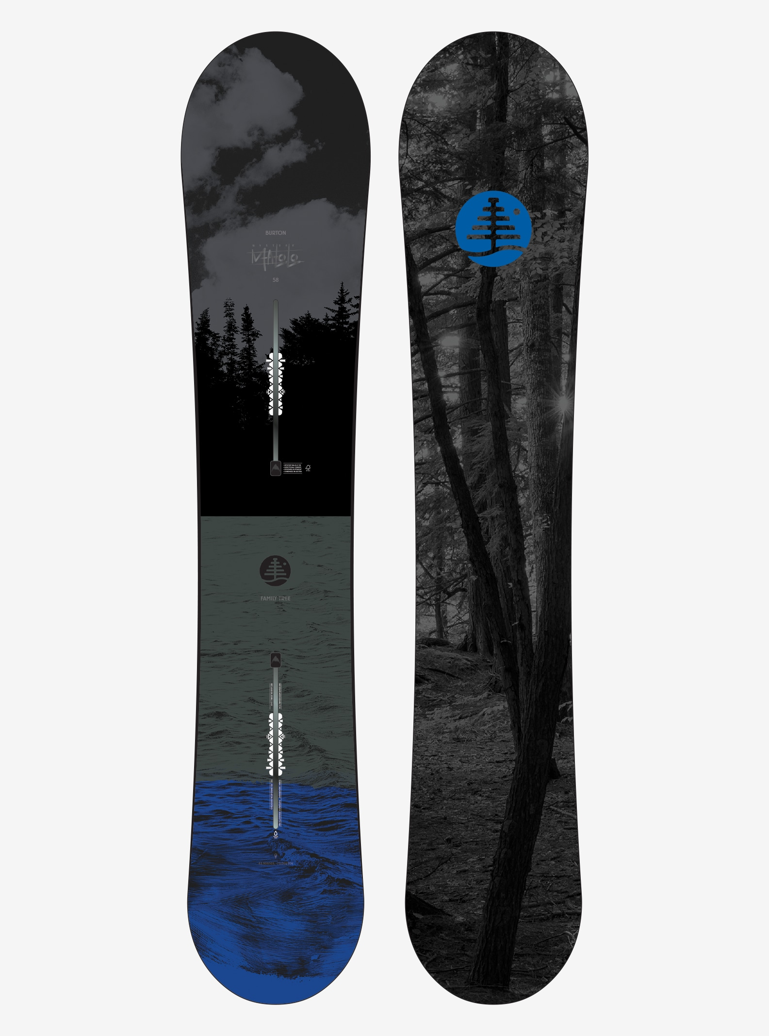 Men's Burton Family Tree Mystery Malolo Snowboard shown in 158