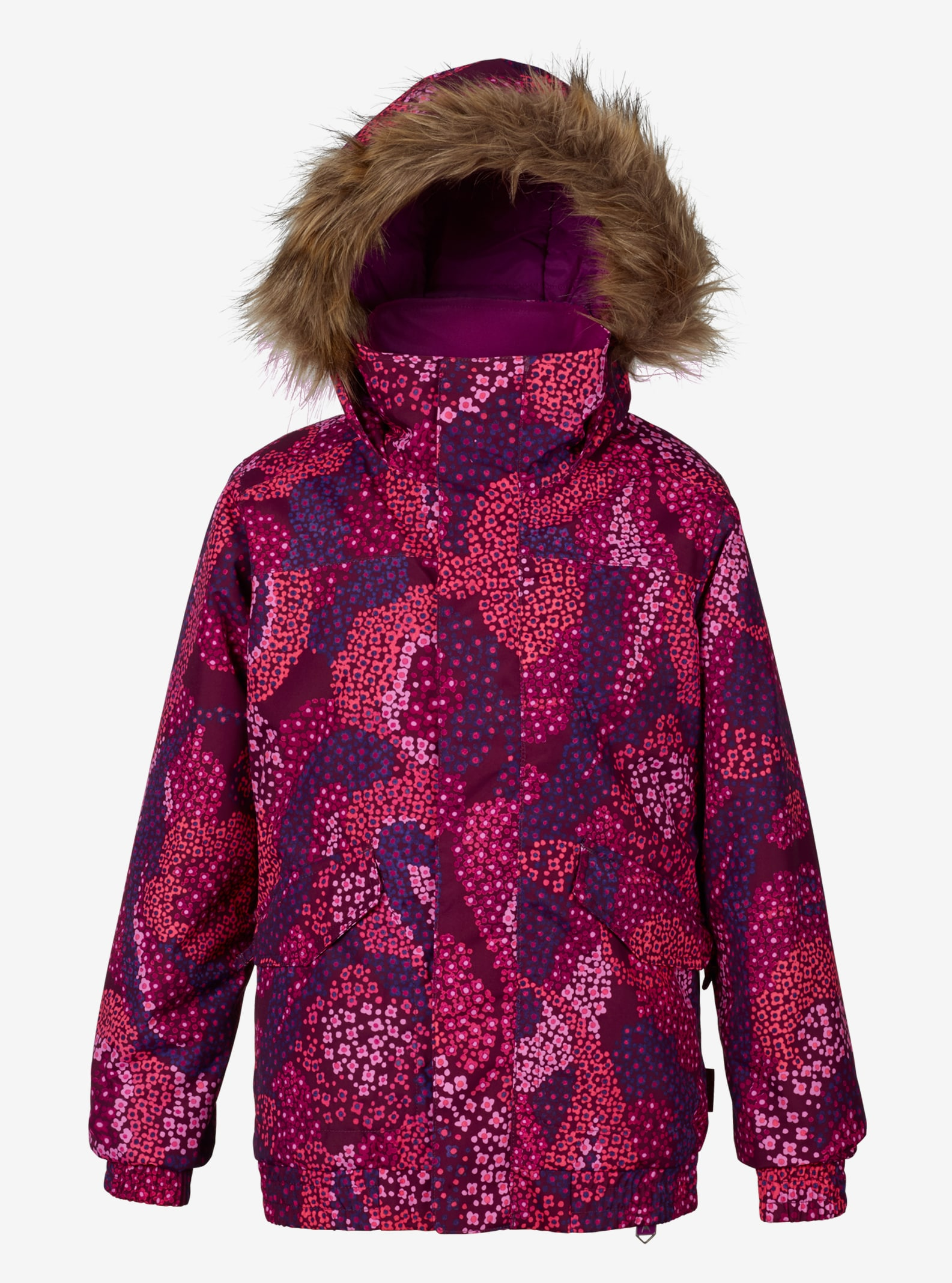 Girls' Burton Whiply Bomber Jacket shown in Cosmos Petal Paisley
