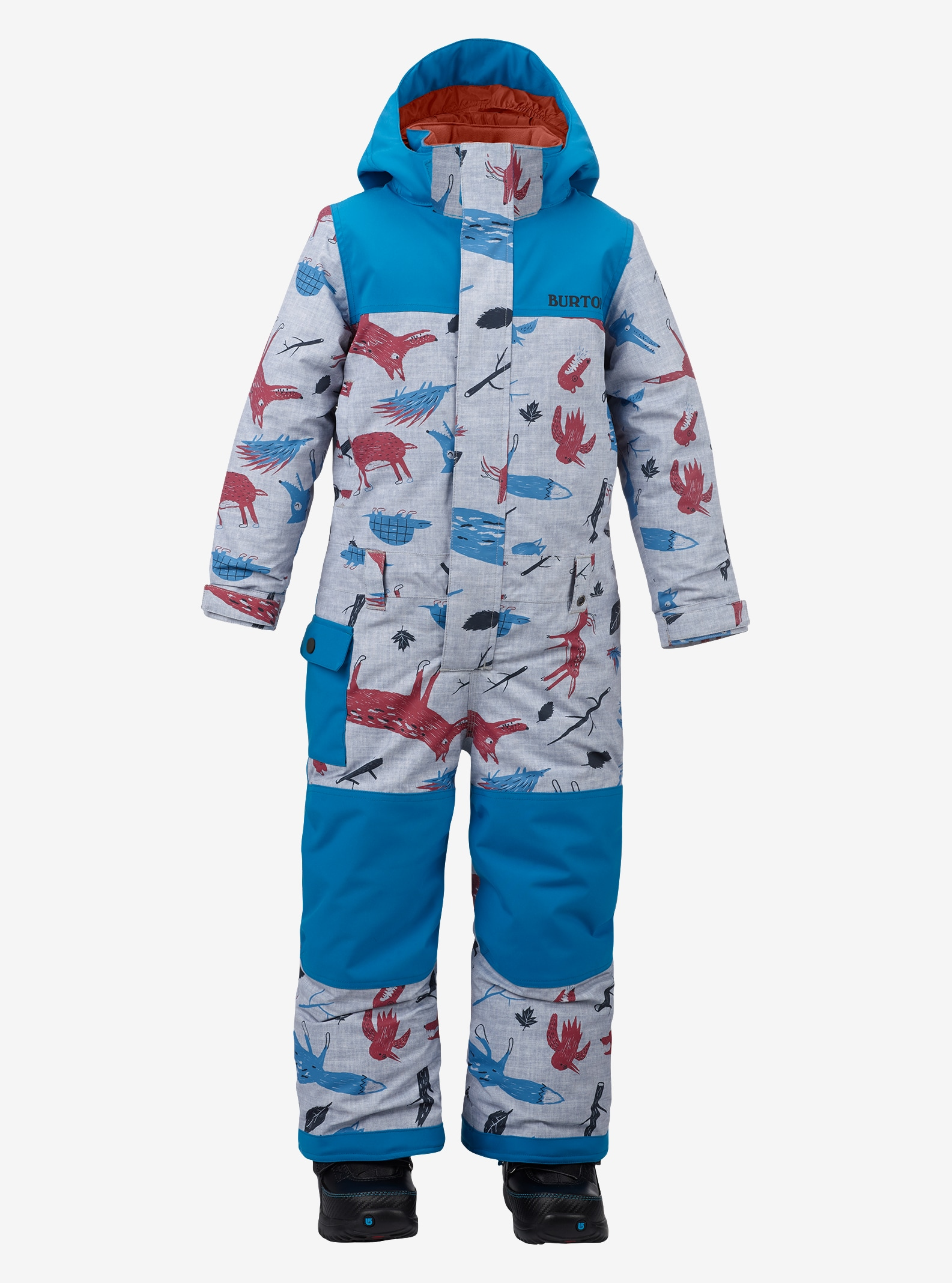 Boys' Burton Minishred Striker One Piece shown in Big Bad Wolf / Mountaineer