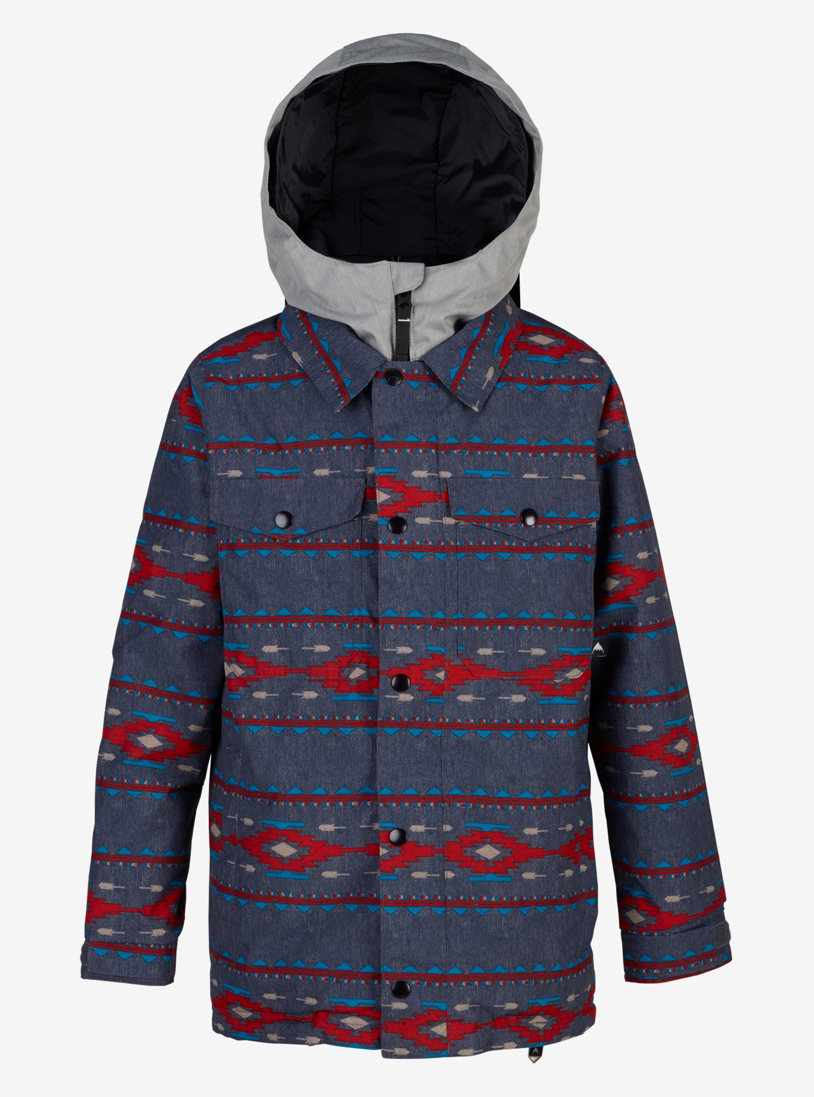 Boys' Burton Uproar Jacket shown in Bitters Saddle Stripe