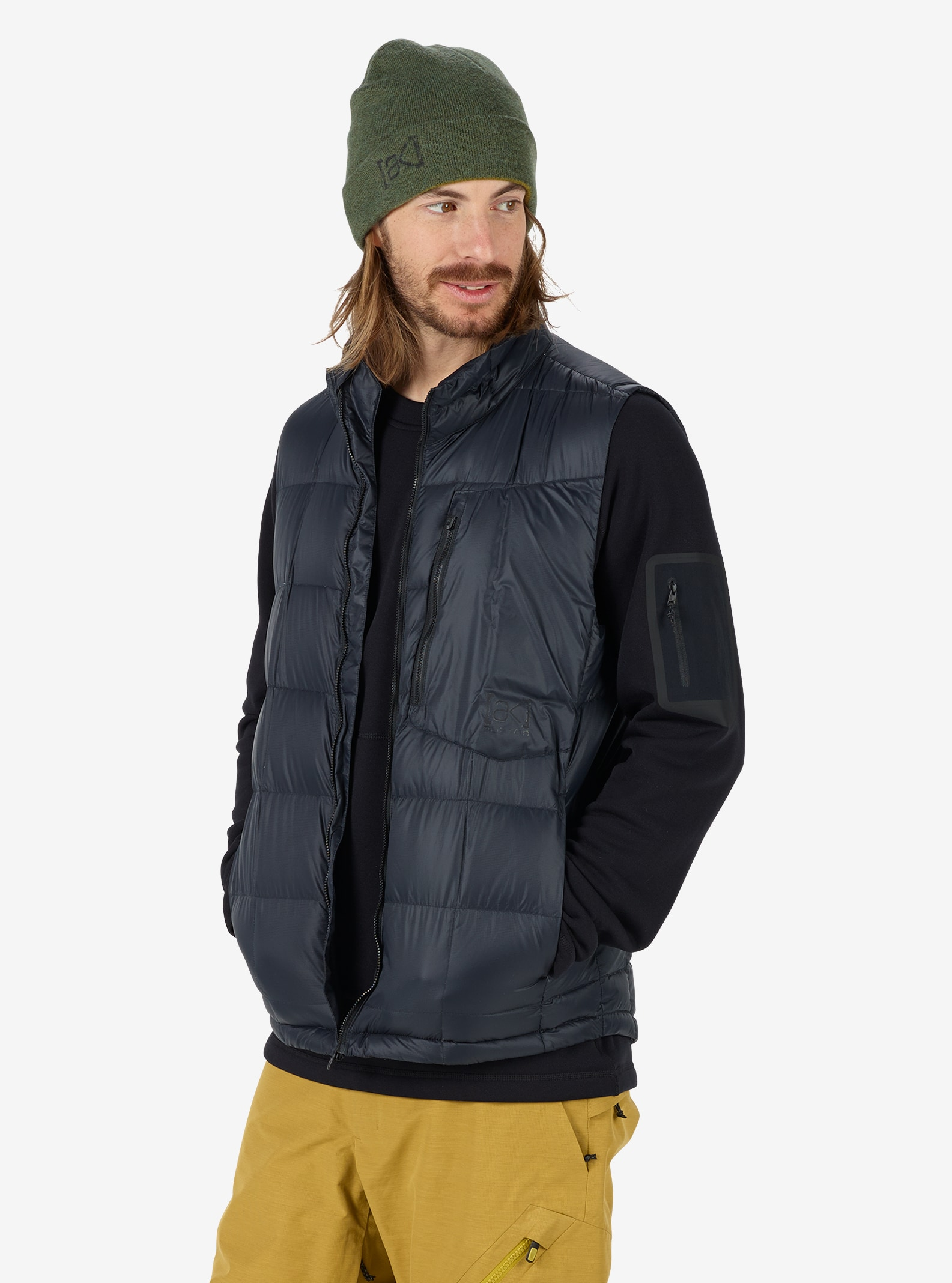 Men's Burton [ak] BK Down Insulator Vest shown in True Black