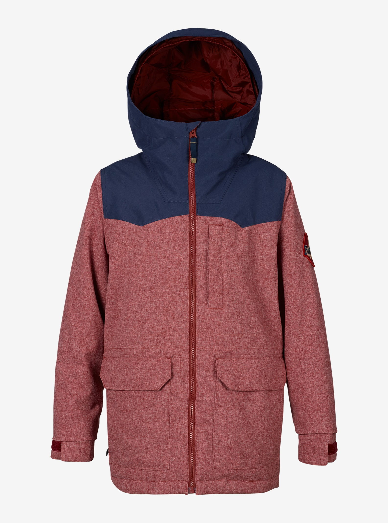 Boys' Burton Phase Jacket shown in Fired Brick / Mood Indigo