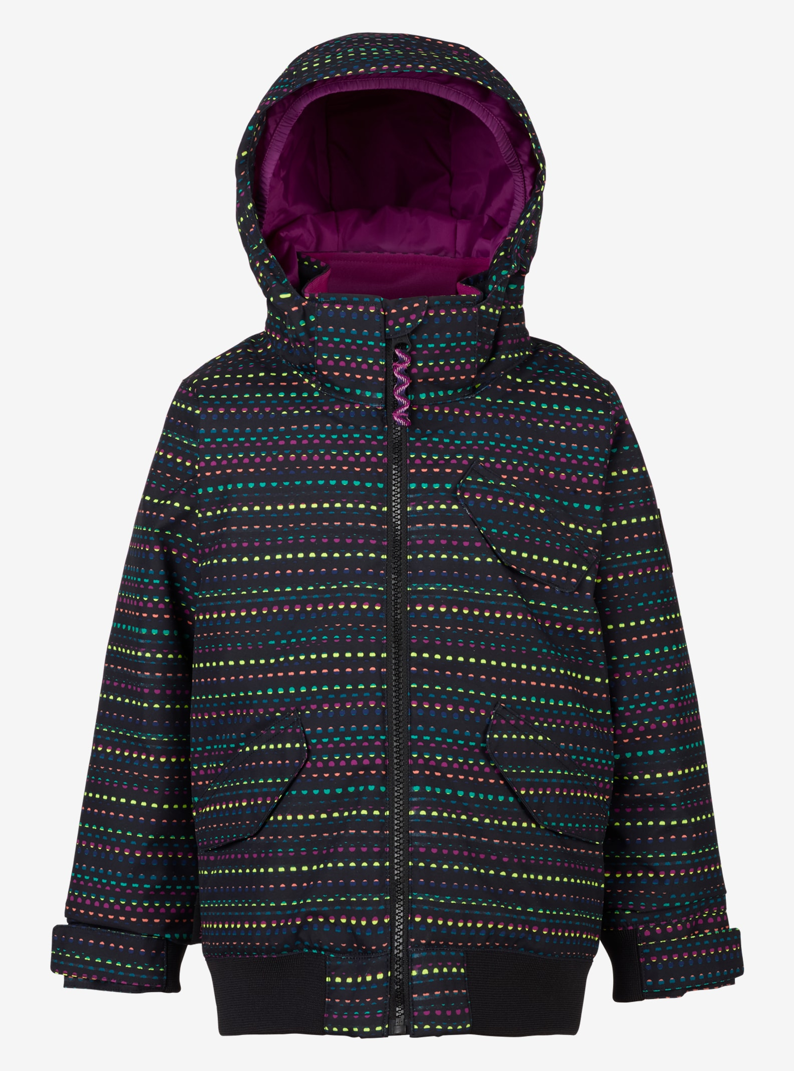 Girls' Burton Minishred Twist Bomber Jacket shown in Candy Dots