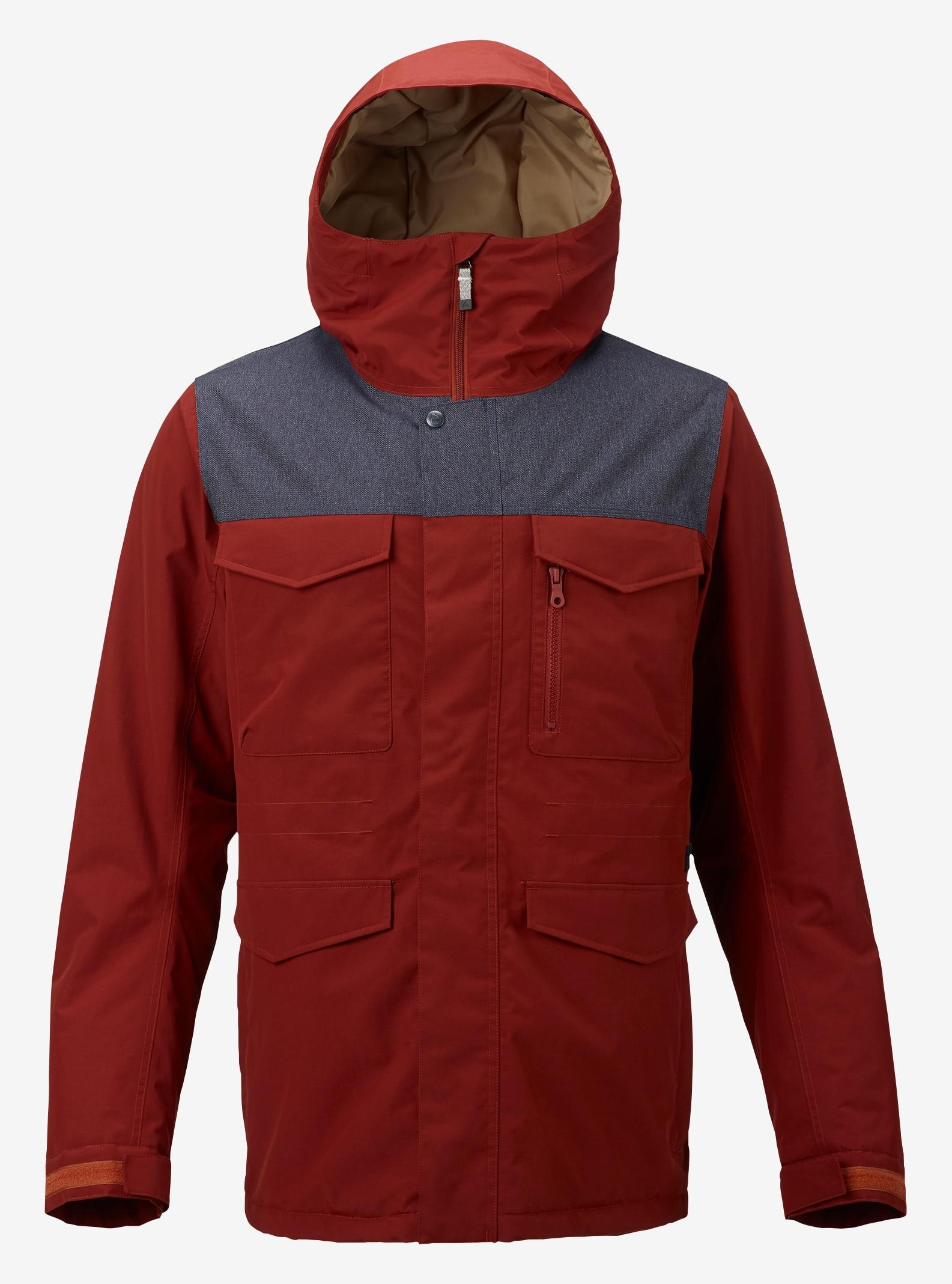 Men's Burton Covert Insulated Jacket shown in Fired Brick / Denim