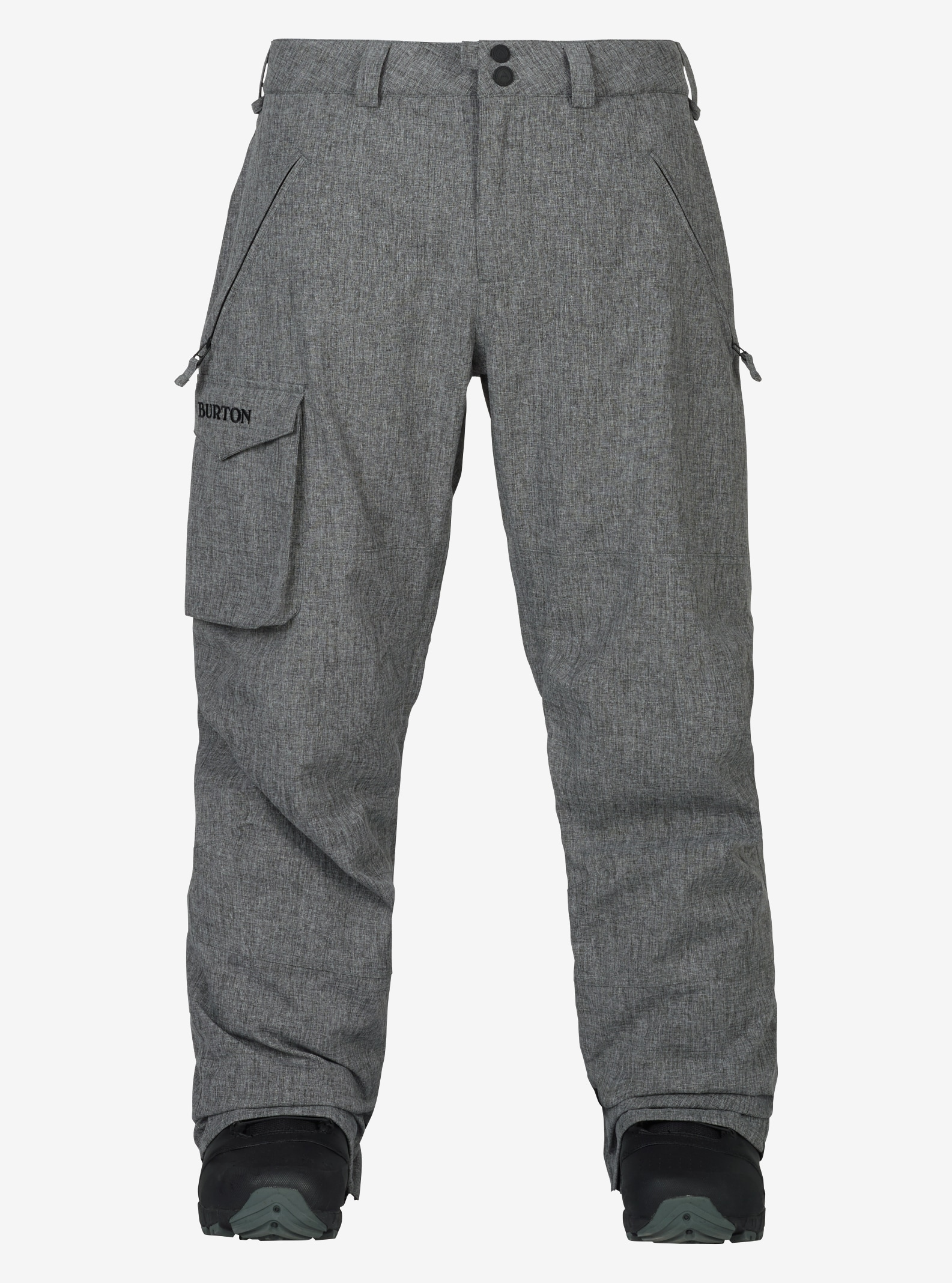 Men's Burton Insulated Covert Pant shown in Bog Heather