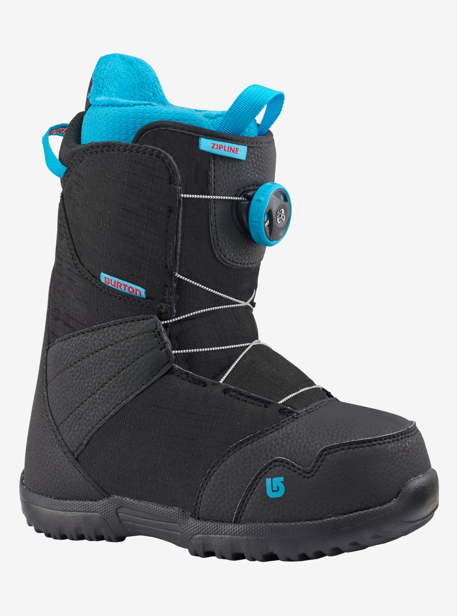 Kids' Burton Zipline Boa® Snowboard Boot shown in Black