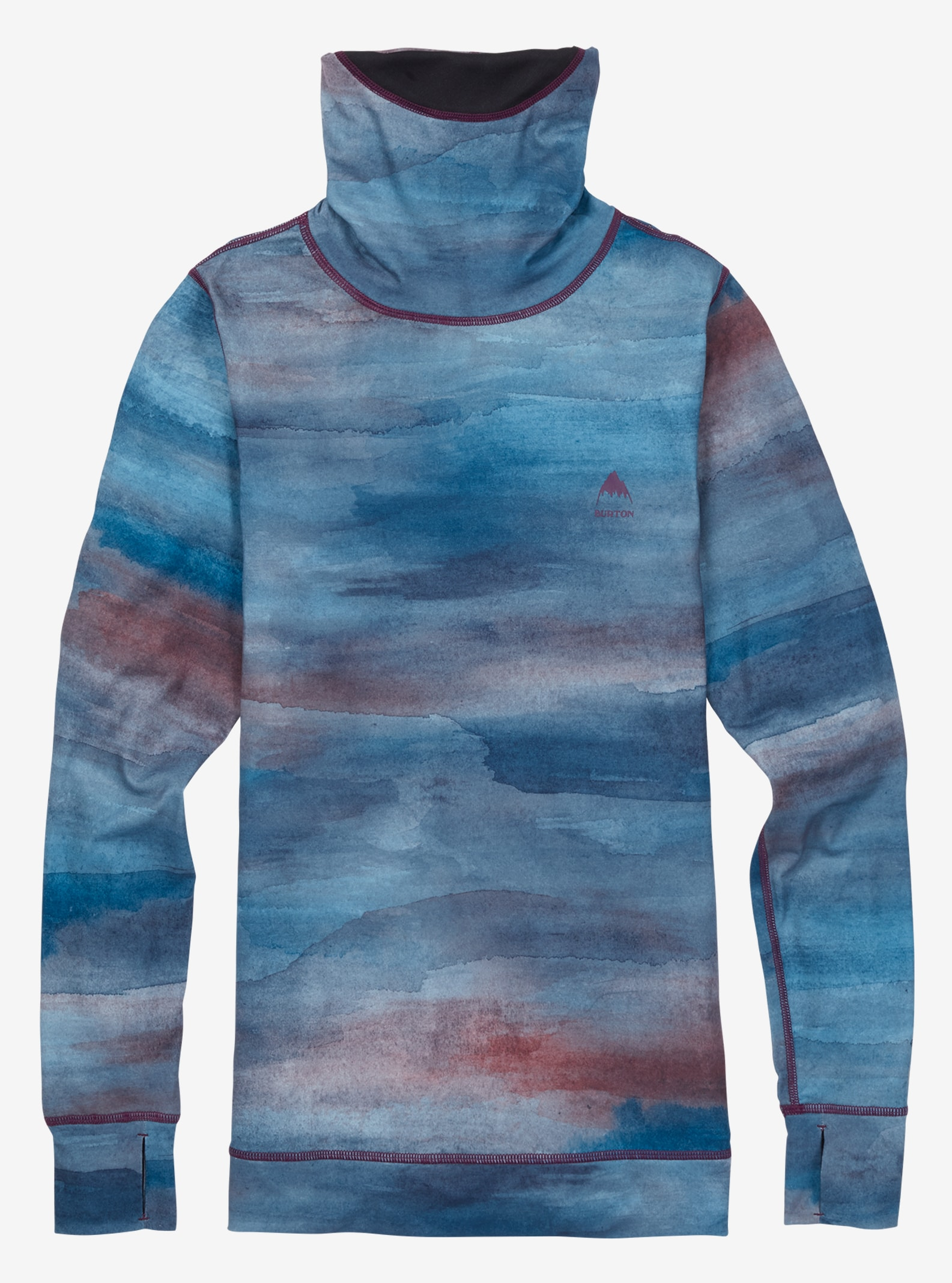 Women's Burton Base Layer Midweight Long Neck shown in Jaded Sedona