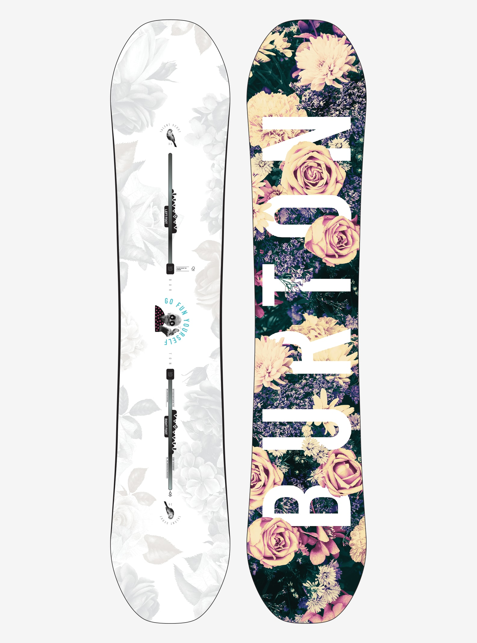 Women's Burton Talent Scout Snowboard shown in 138