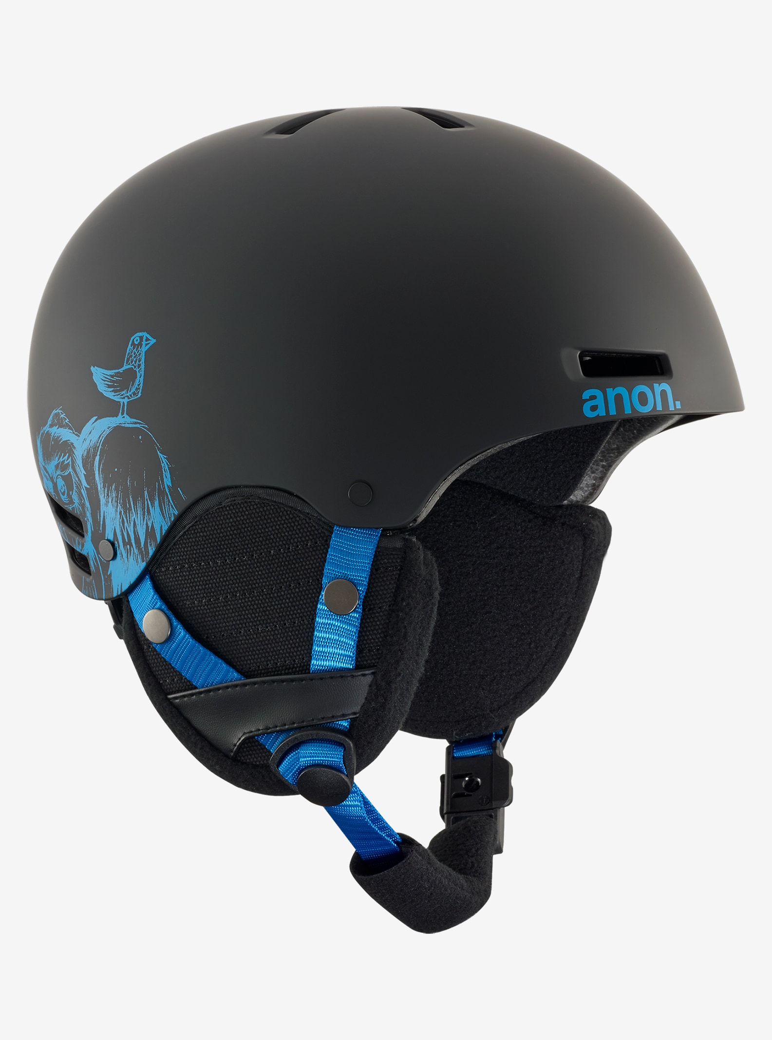 Kids' Anon Rime Helmet shown in Sulley Black
