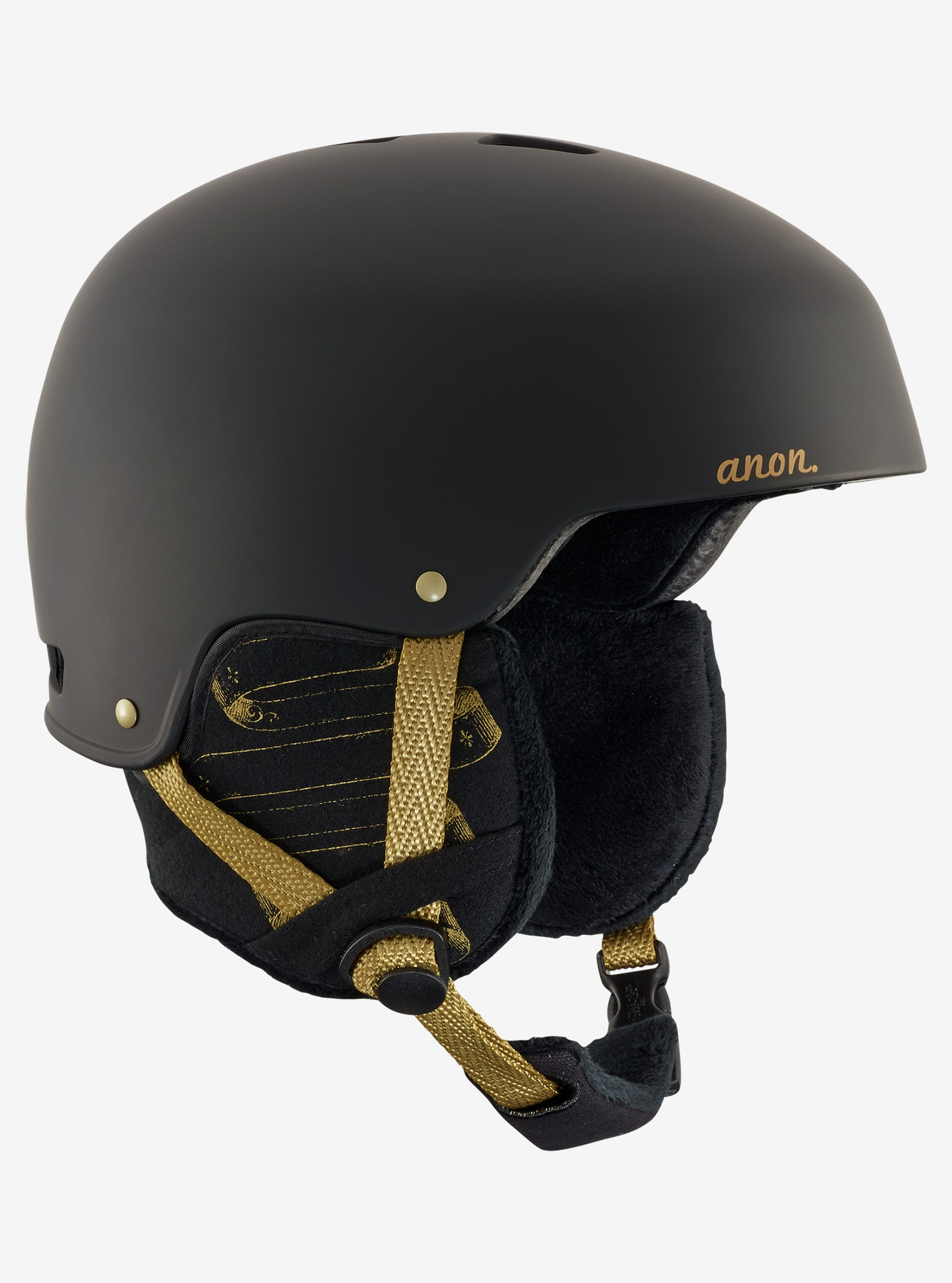 Women's Anon Lynx Helmet shown in Frontier Black