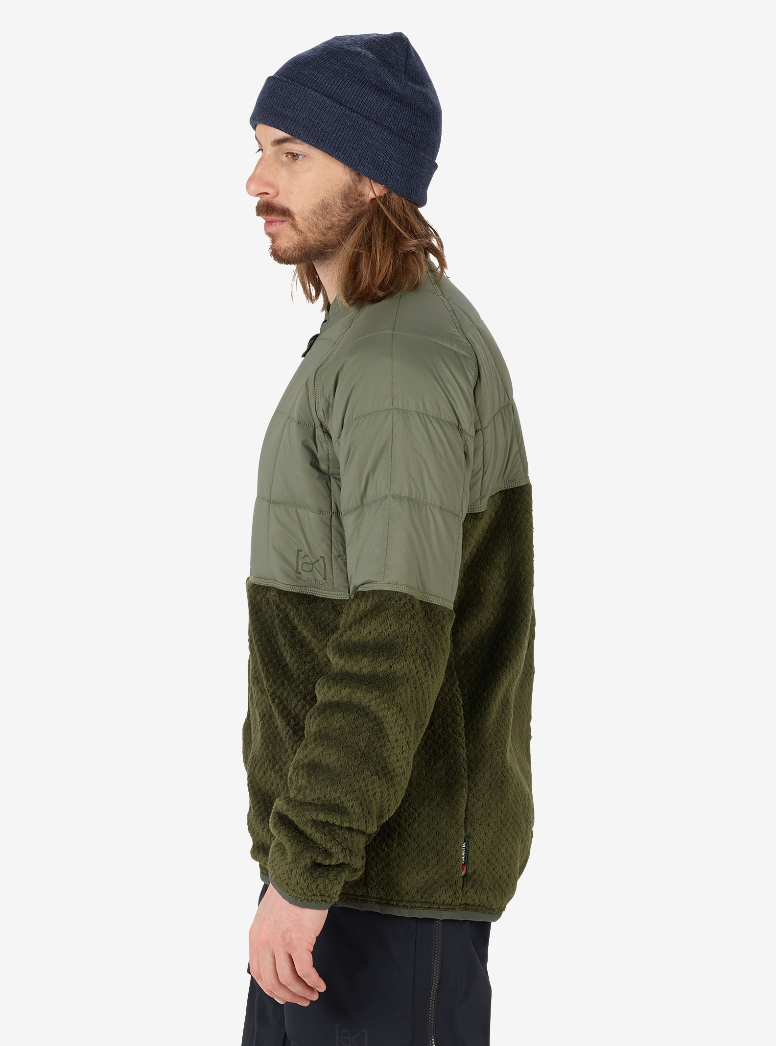 Men's Burton [ak] Hybrid Insulator Jacket shown in Dusty Olive / Forest Night