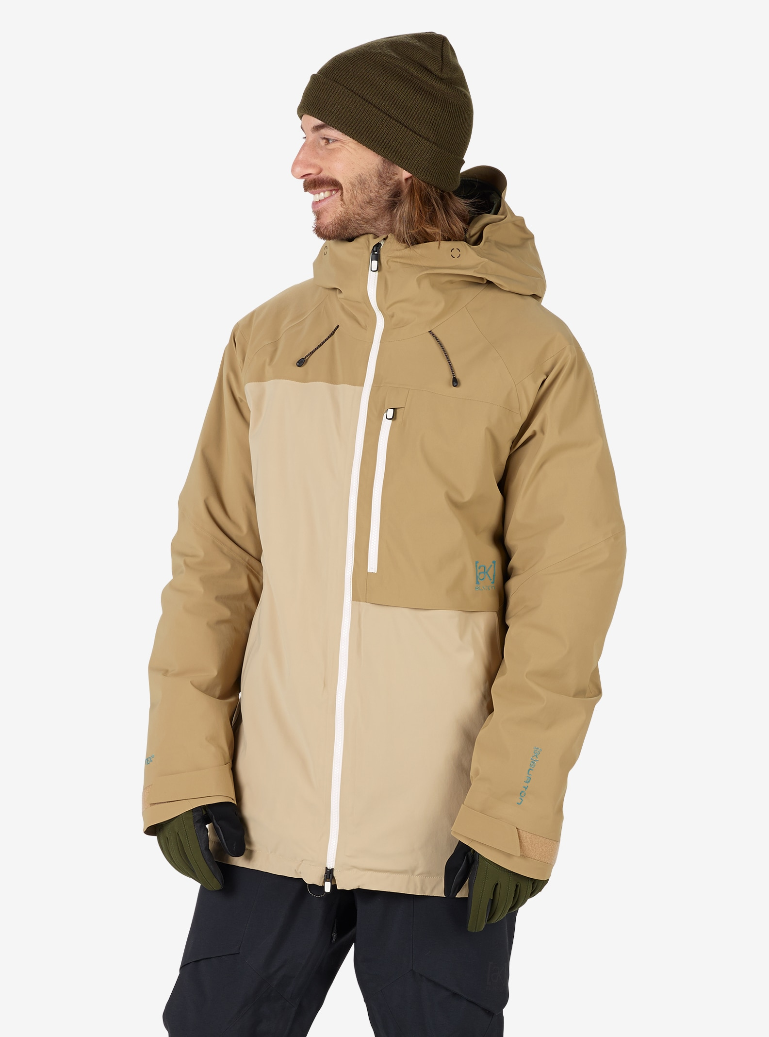 Men's Burton [ak] GORE‑TEX® Helitack Jacket shown in Kelp / Safari