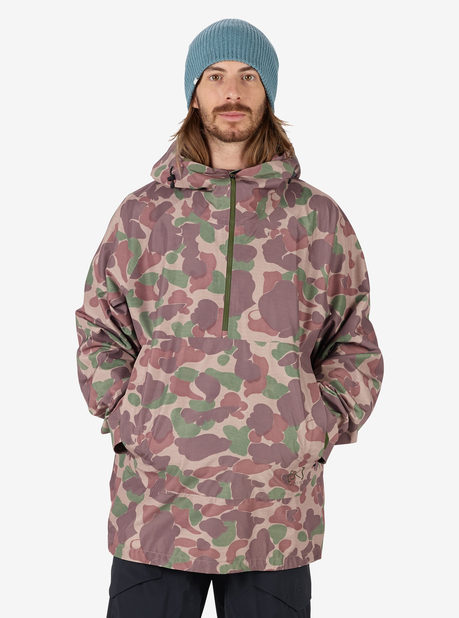 Men's Burton [ak] GORE‑TEX® Velocity Anorak Jacket shown in Kodiak Camo