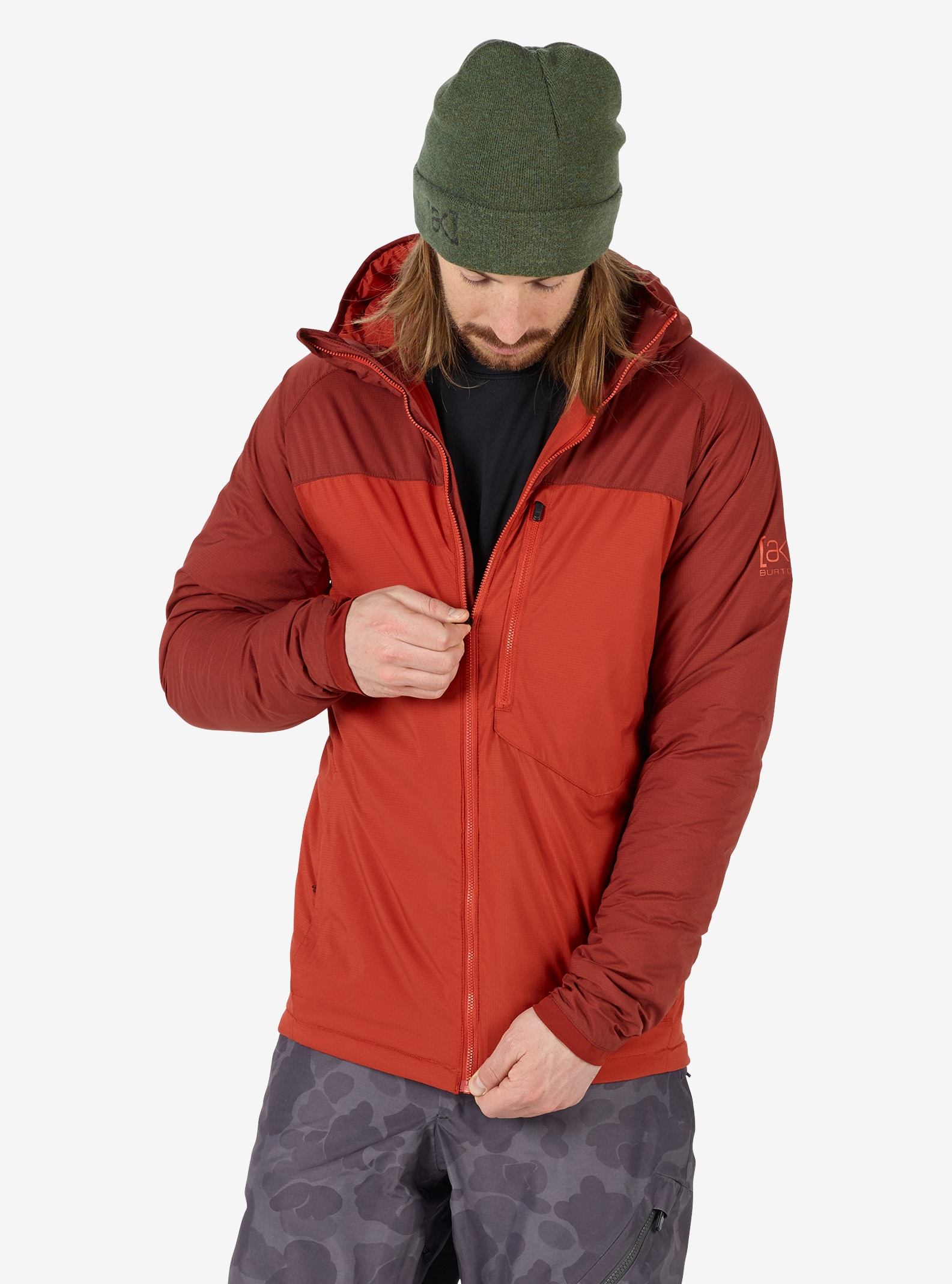 Men's Burton [ak] FZ Insulator Jacket shown in Bitters / Fired Brick