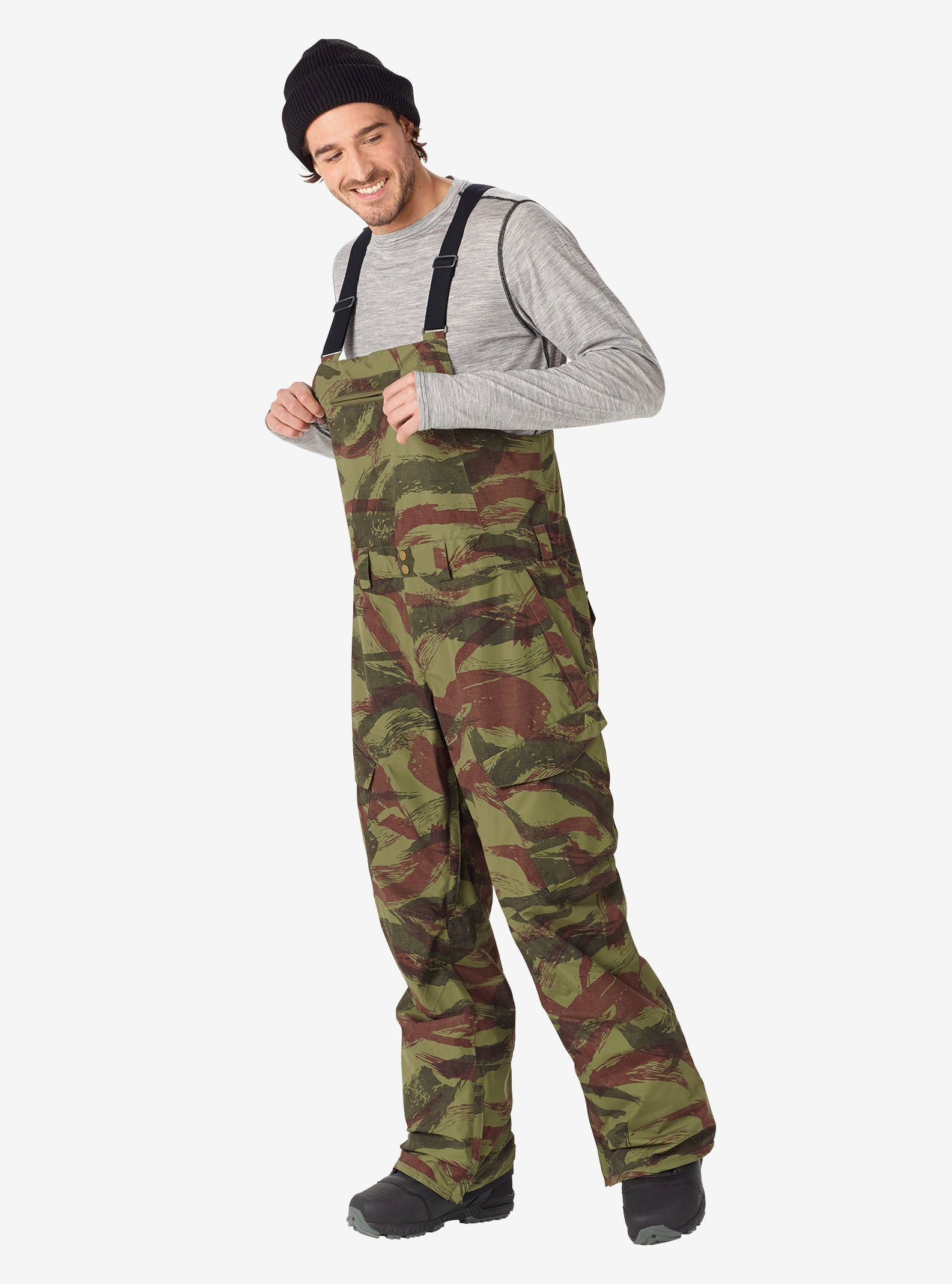 Men's Burton Reserve Bib Pant shown in Brush Camo