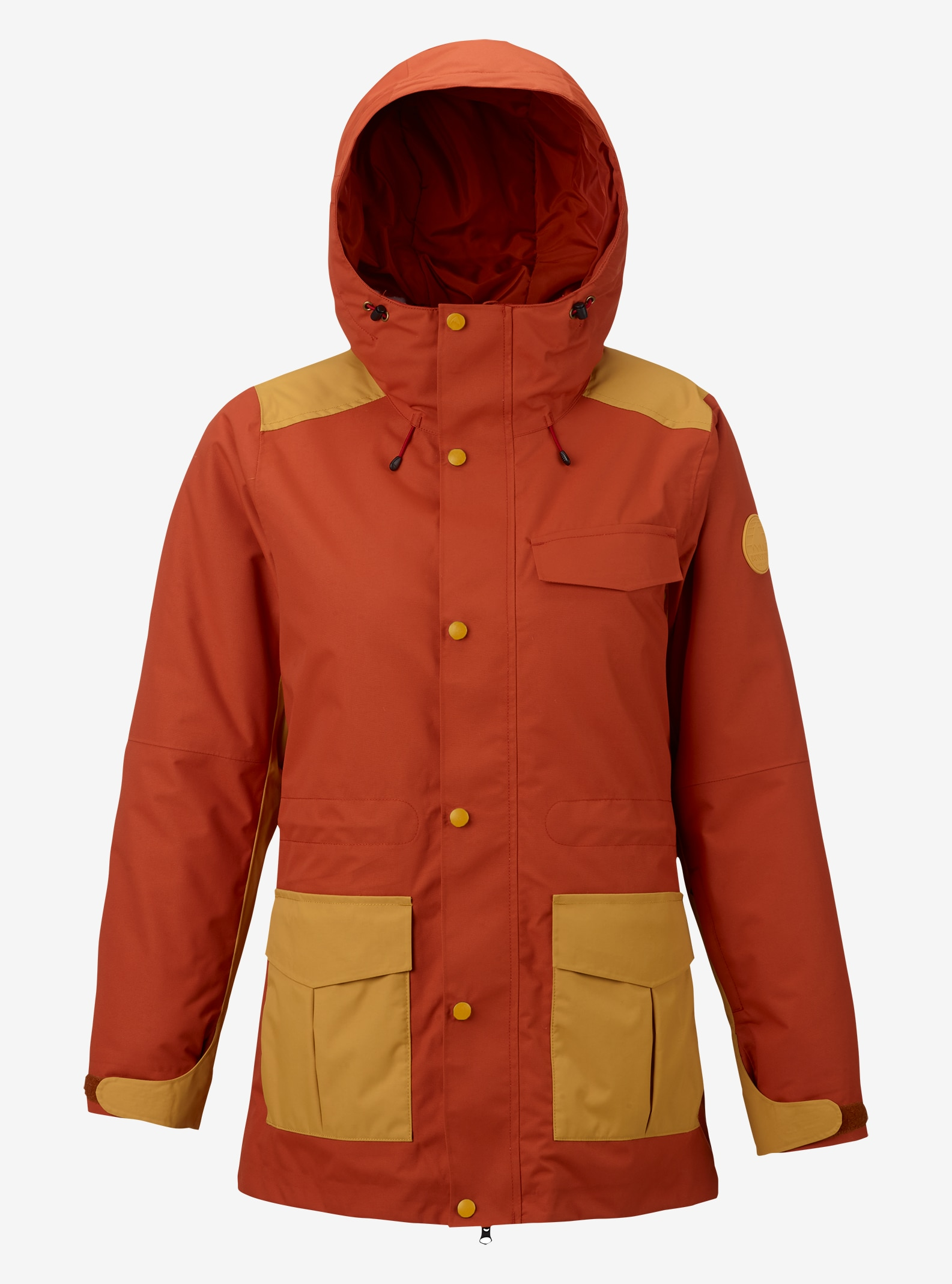 Women's Burton Runestone Jacket shown in Persimmon / Ochre