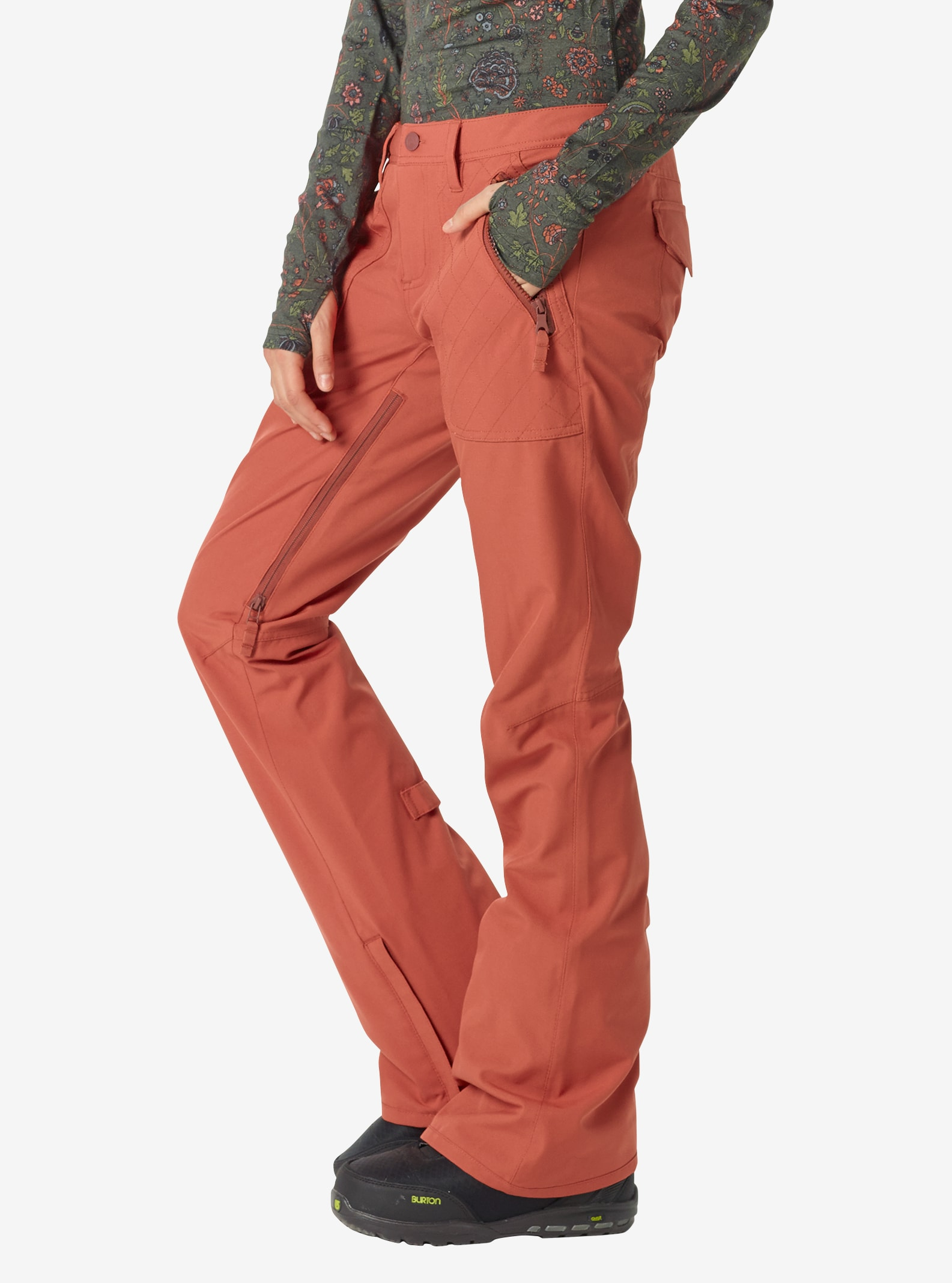 Women's Burton Vida Pant shown in Persimmon