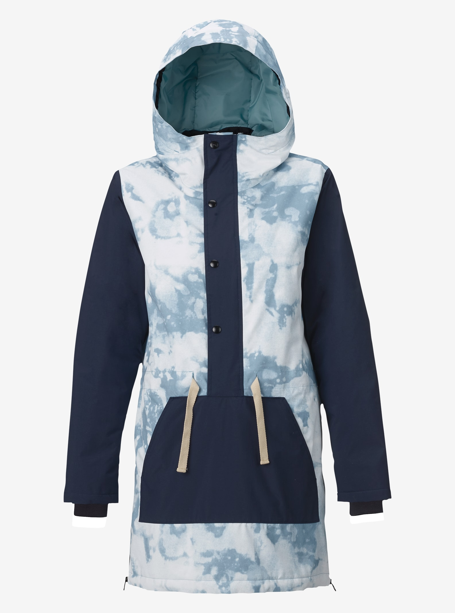 Women's Burton Chuteout Anorak Jacket shown in Bleached / Mood Indigo