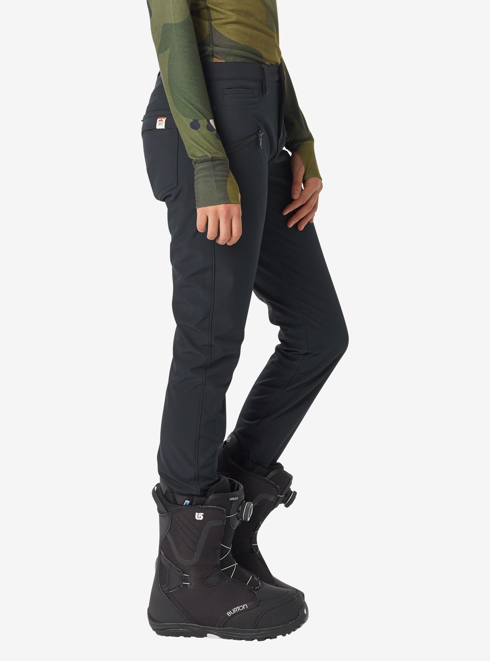 Women's Burton Ivy Pant shown in True Black