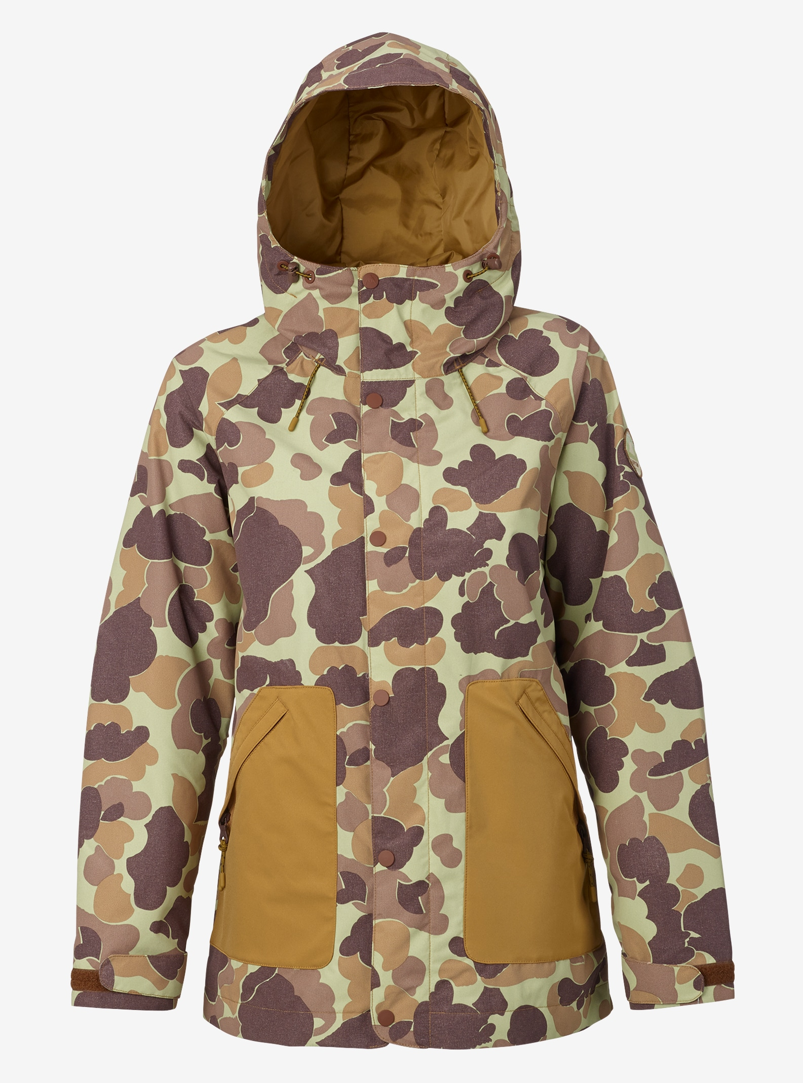 Women's Burton Eastfall Jacket shown in Bean Camo / Dull Gold