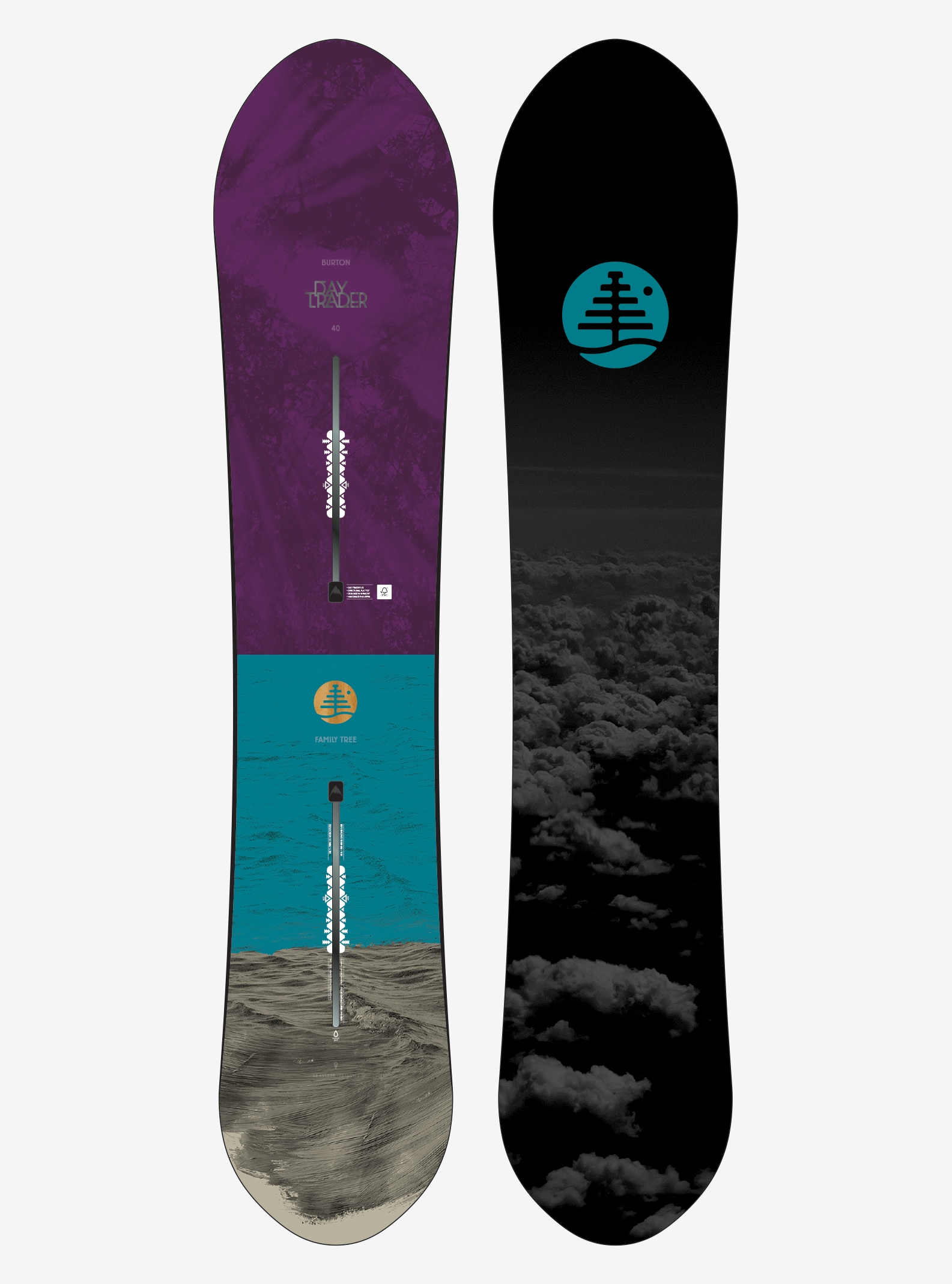 Women's Burton Family Tree Day Trader Snowboard shown in 140