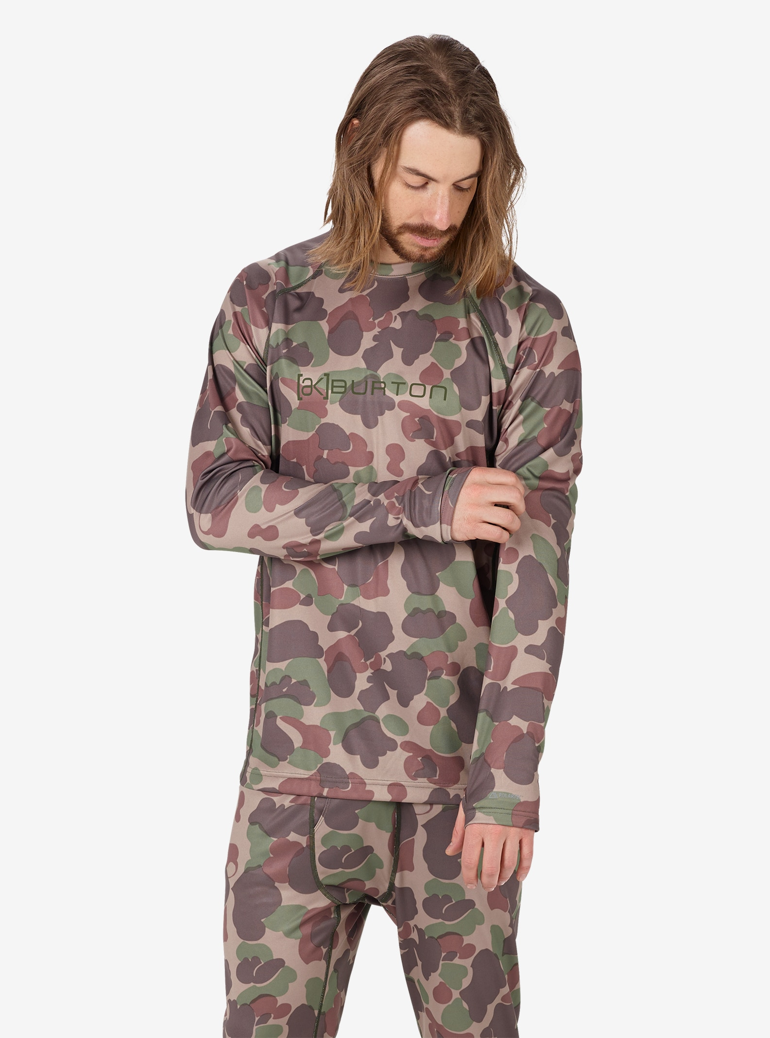 Men's Burton [ak] Power Grid® Crew shown in Kodiak Camo