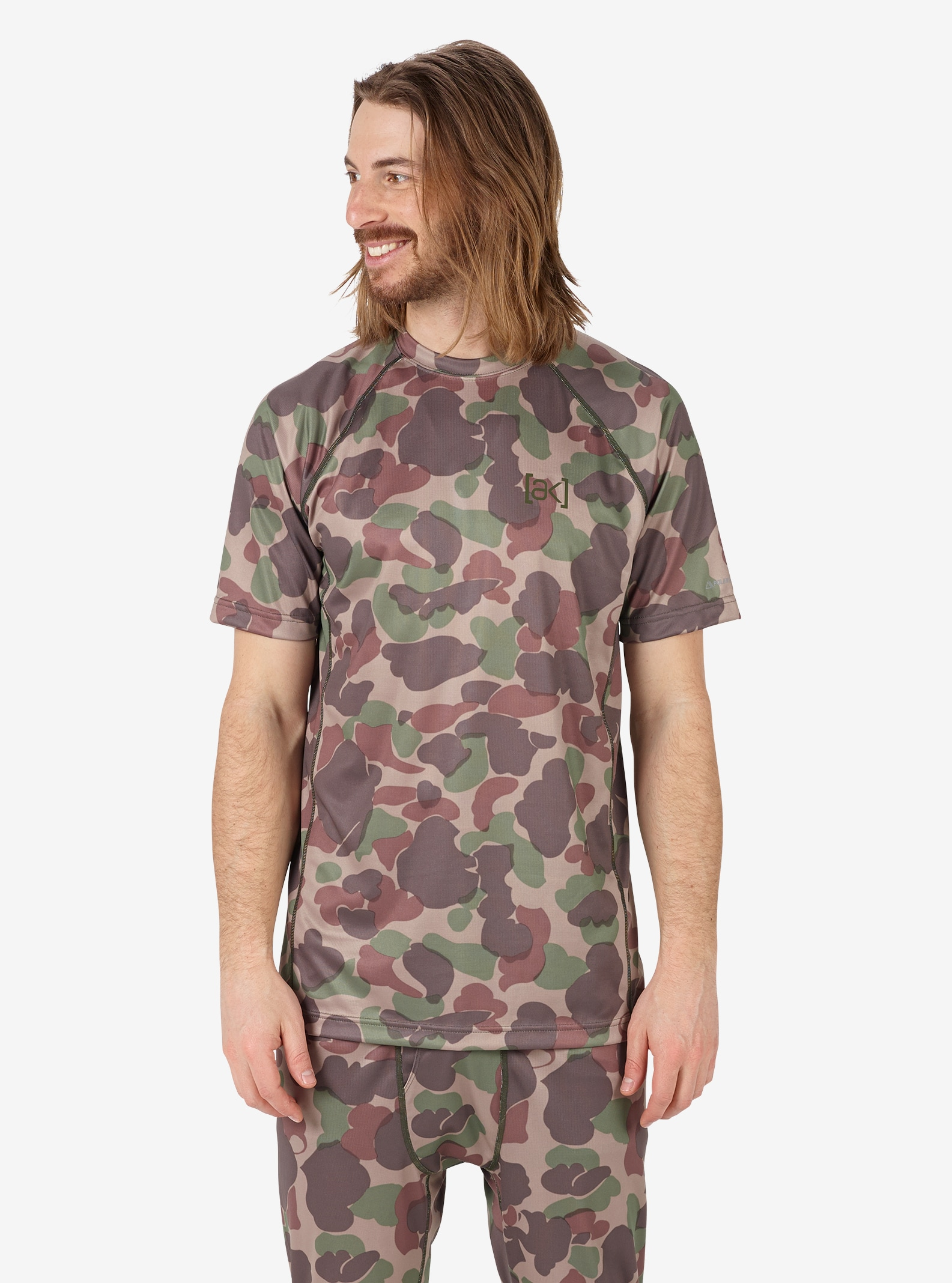 Men's Burton [ak] Power Grid® SS Crew shown in Kodiak Camo