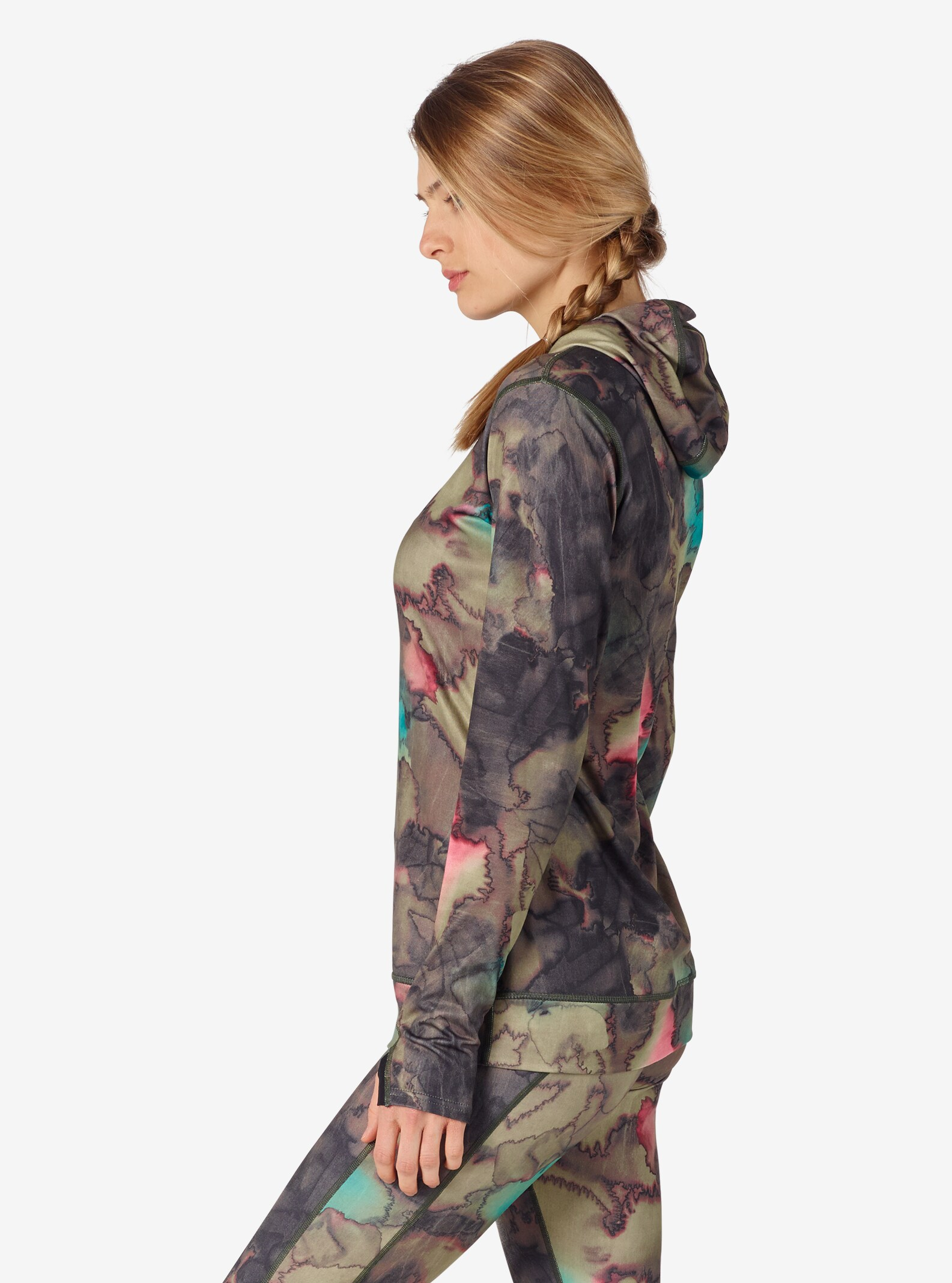 Women's Burton [ak] Power Stretch® Hood shown in Tea Camo