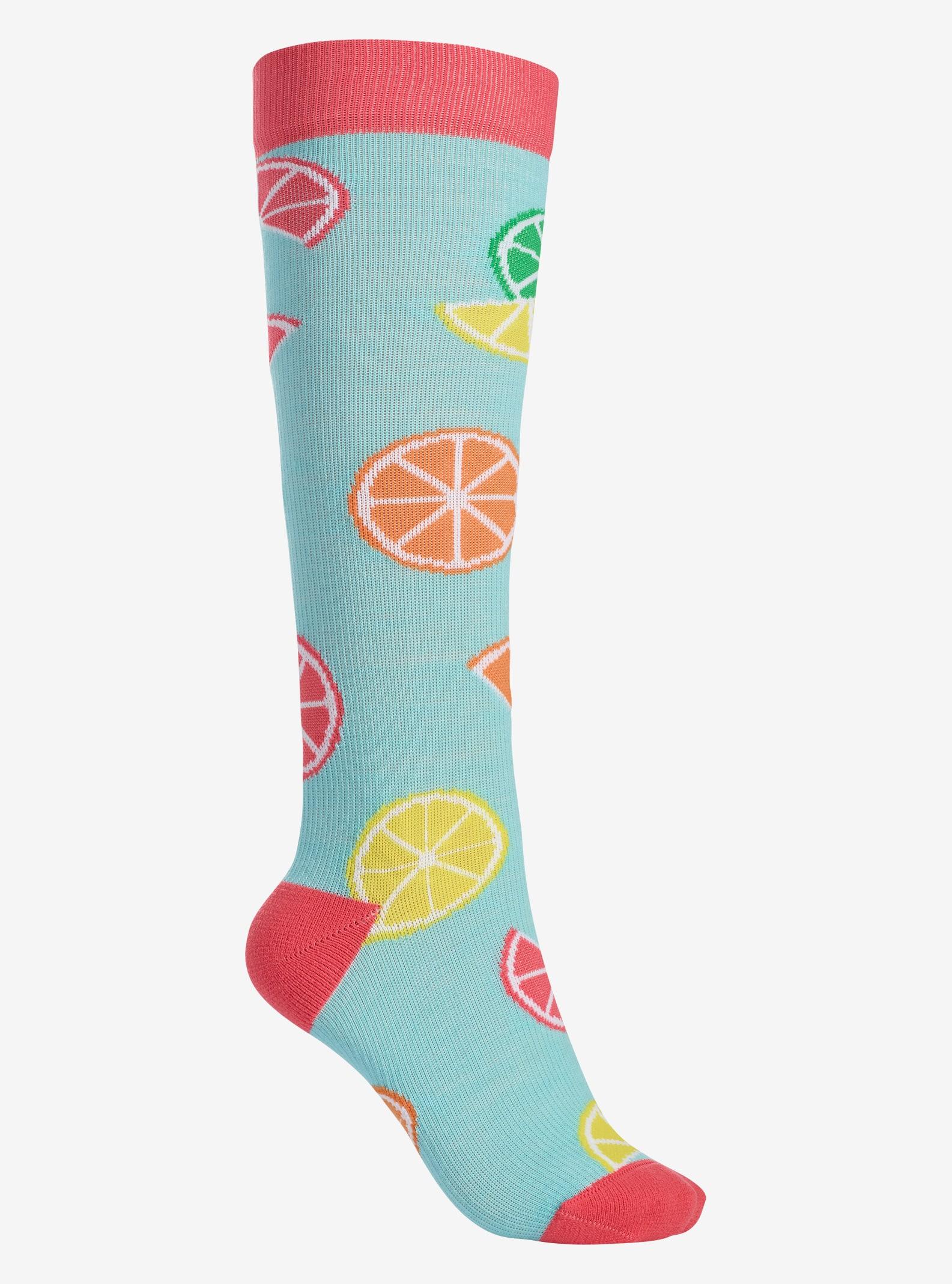 Women's Burton Super Party Sock shown in Citrus