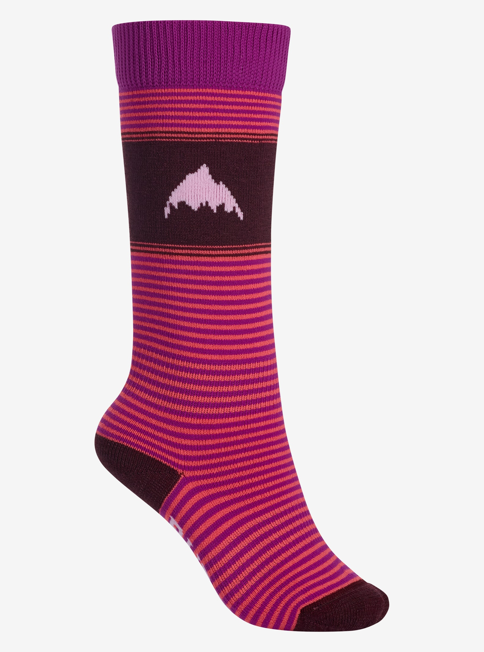 Girls' Burton Weekend Sock Two-Pack shown in Eggplant