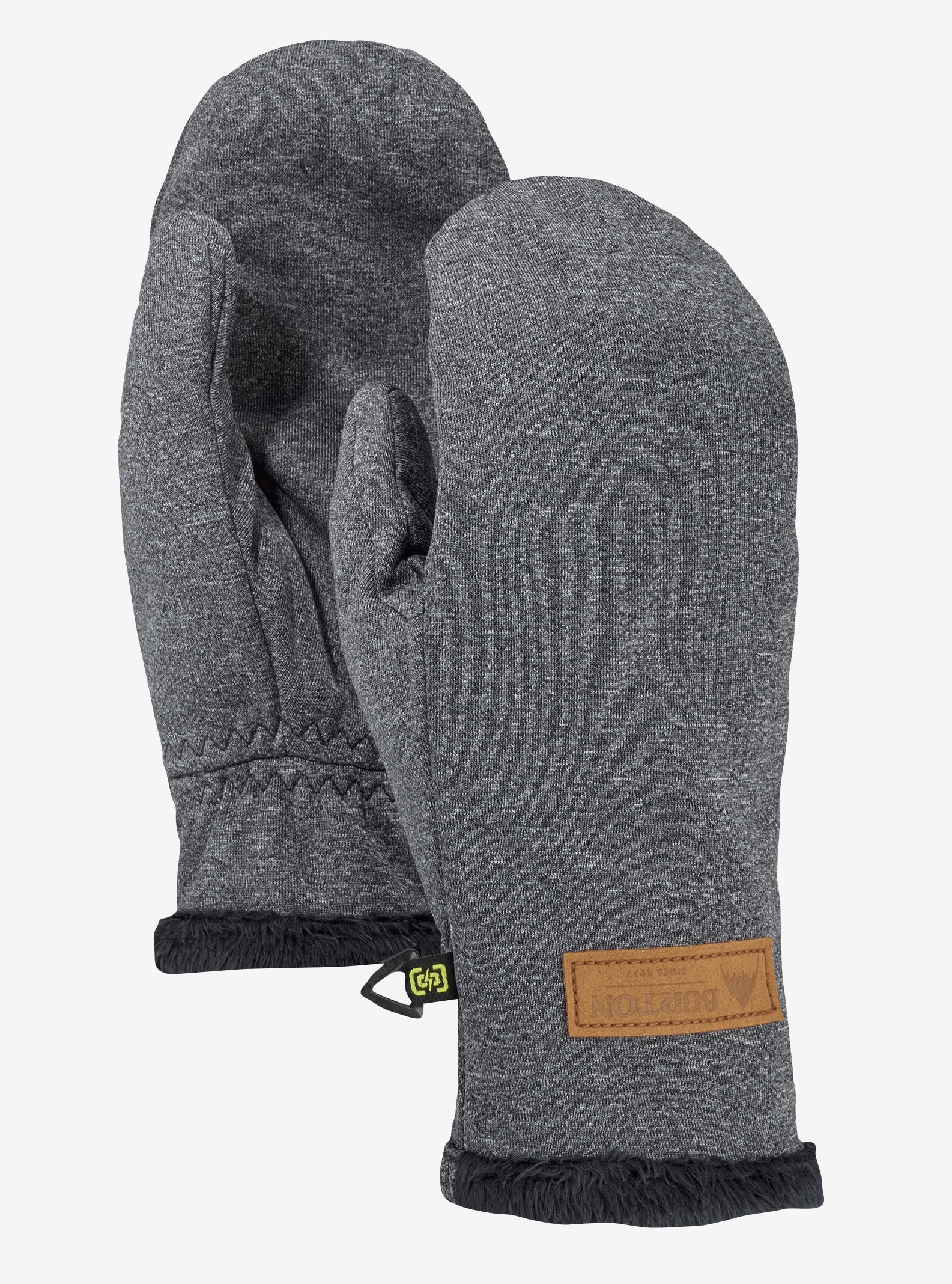 Women's Burton Sapphire Mitt shown in True Black Heather