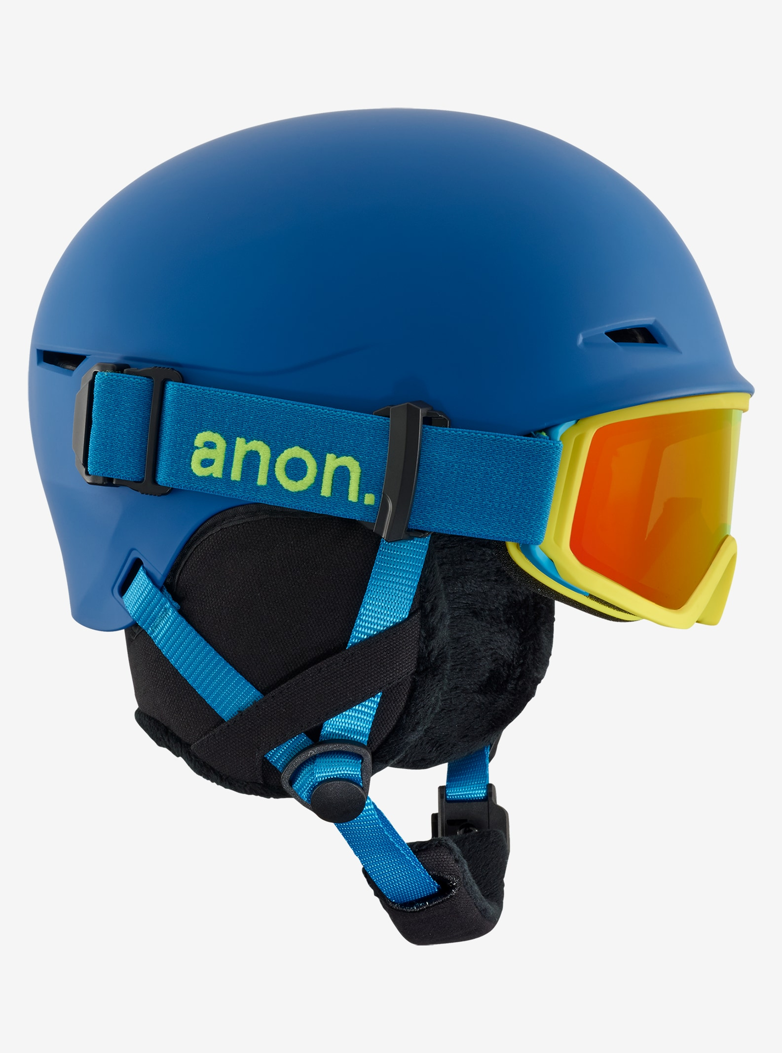 Kids' Anon Define Helmet shown in Blue