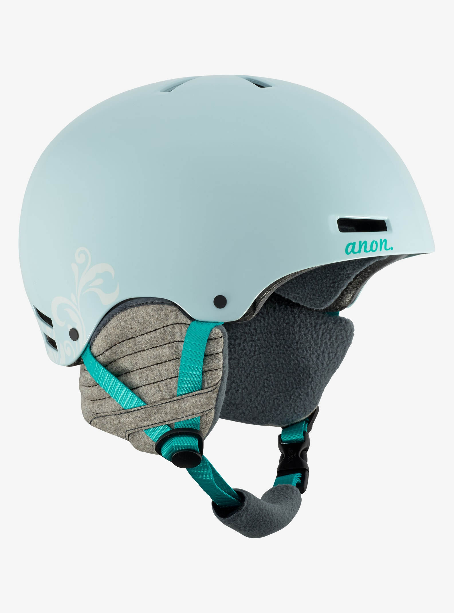 Women's Anon Greta Helmet shown in Empress Teal