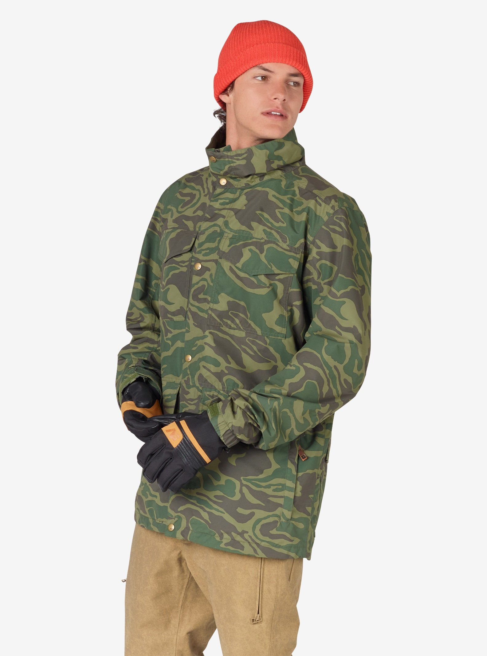 Men's Analog Tollgate Jacket shown in Rifle Green Noodle Camo